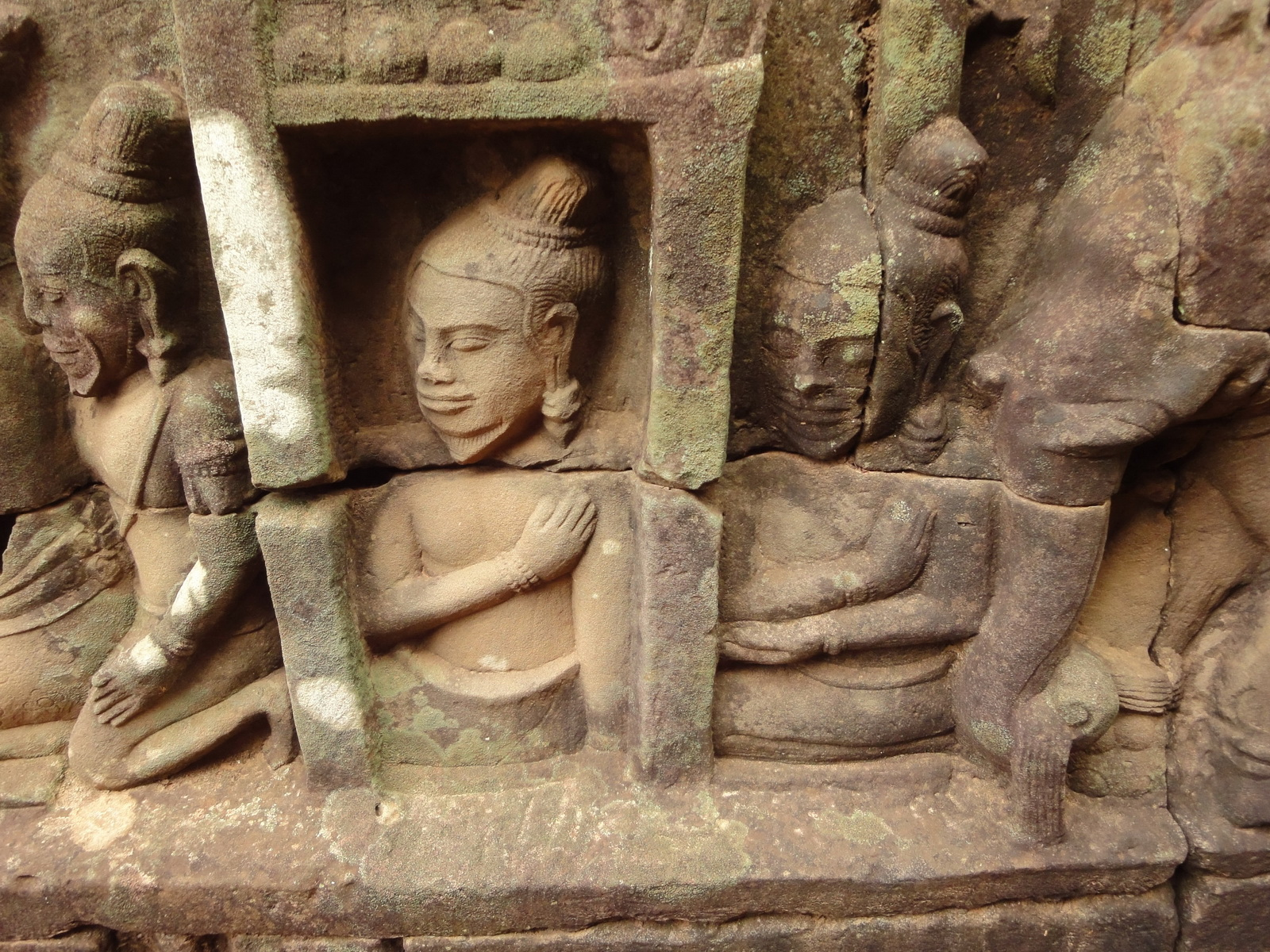 Leper King Terrace hidden wall underworld Nagas and deities 005