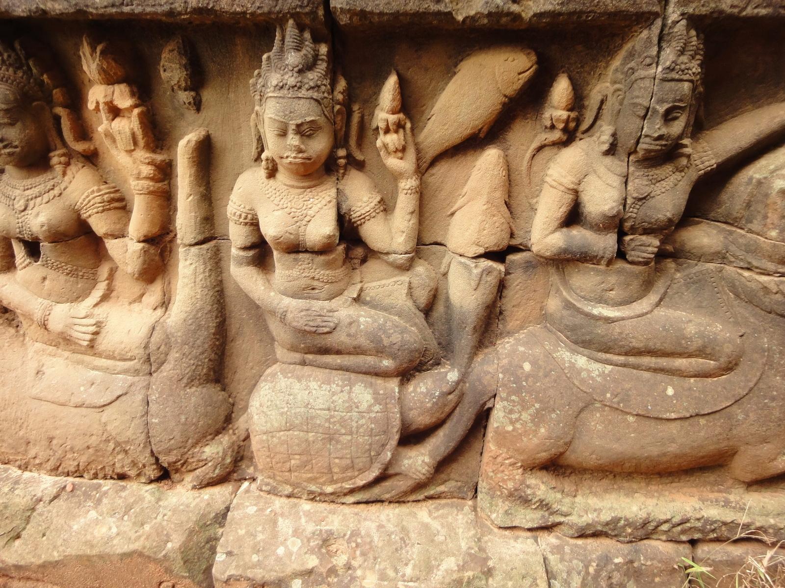 Leper King Terrace hidden wall underworld Nagas and deities 010
