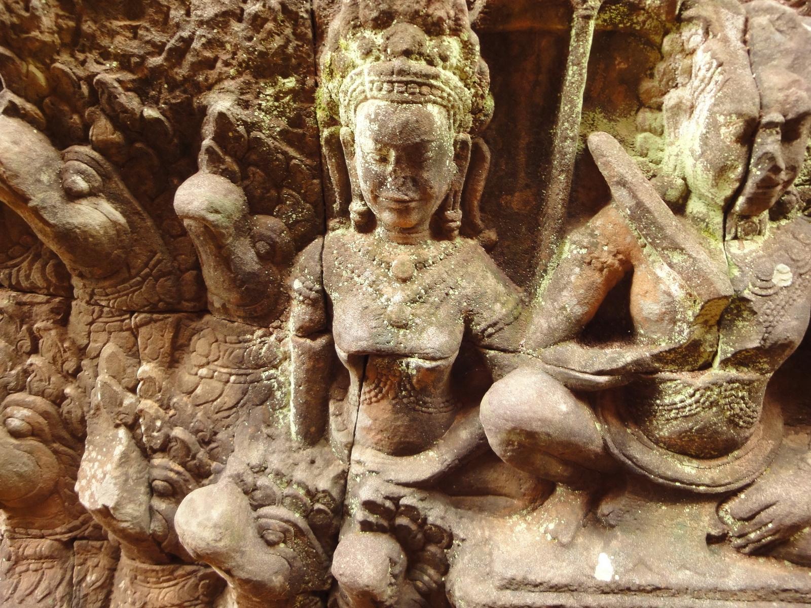 Leper King Terrace hidden wall underworld Nagas and deities 012