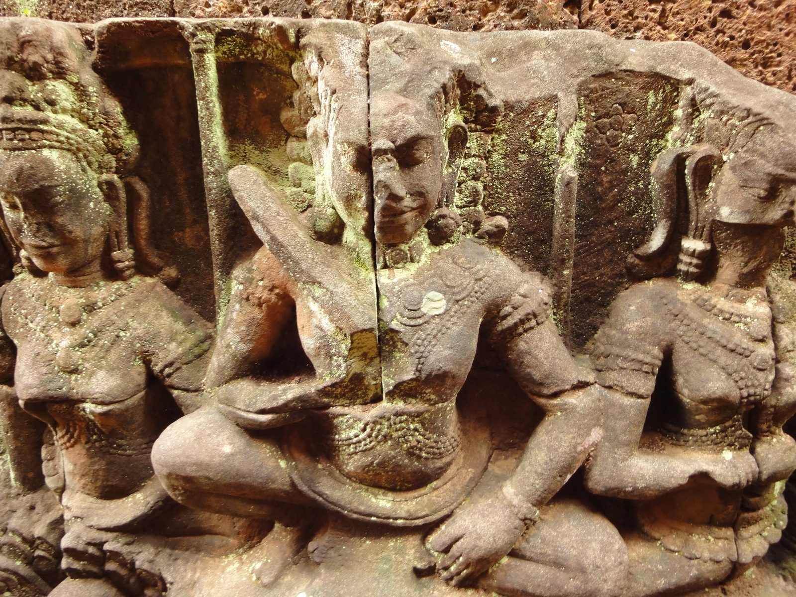 Leper King Terrace hidden wall underworld Nagas and deities 013