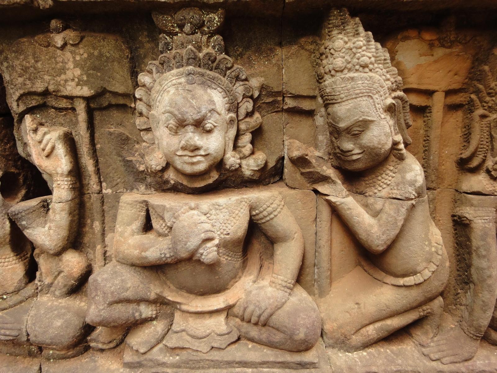 Leper King Terrace hidden wall underworld Nagas and deities 020