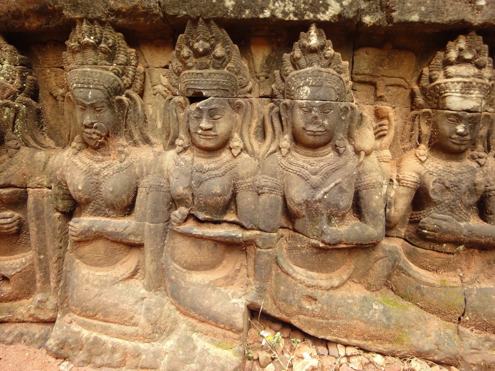 Leper King Terrace hidden wall underworld Nagas and deities 030