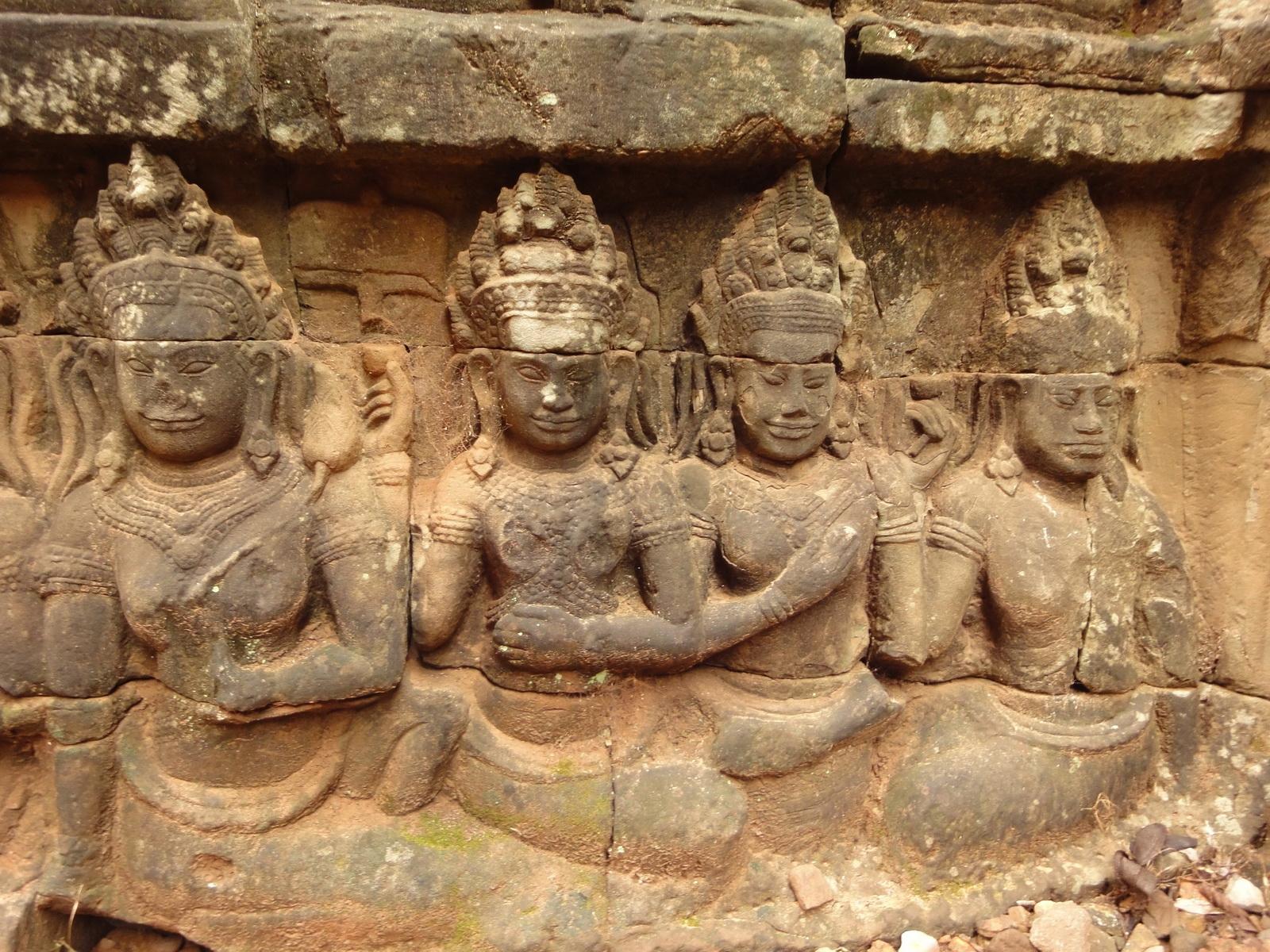 Leper King Terrace hidden wall underworld Nagas and deities 031