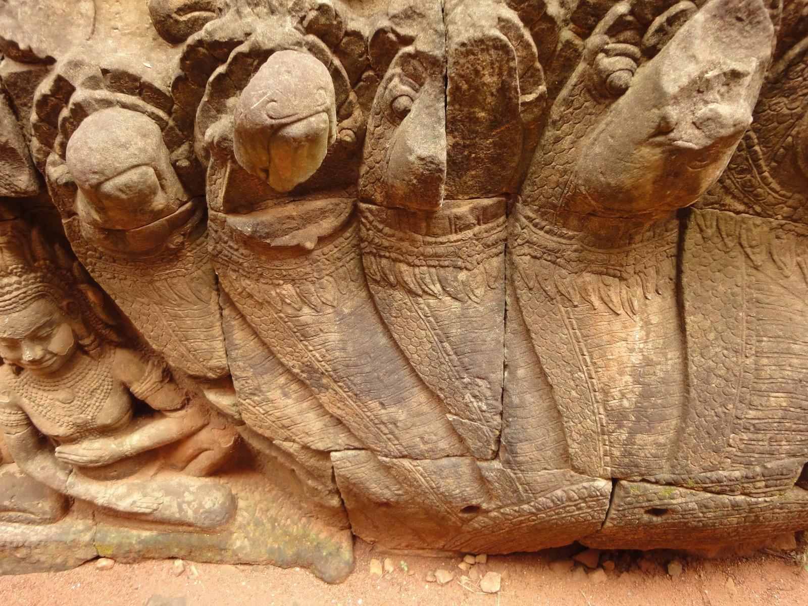 Leper King Terrace hidden wall underworld Nagas and deities 035