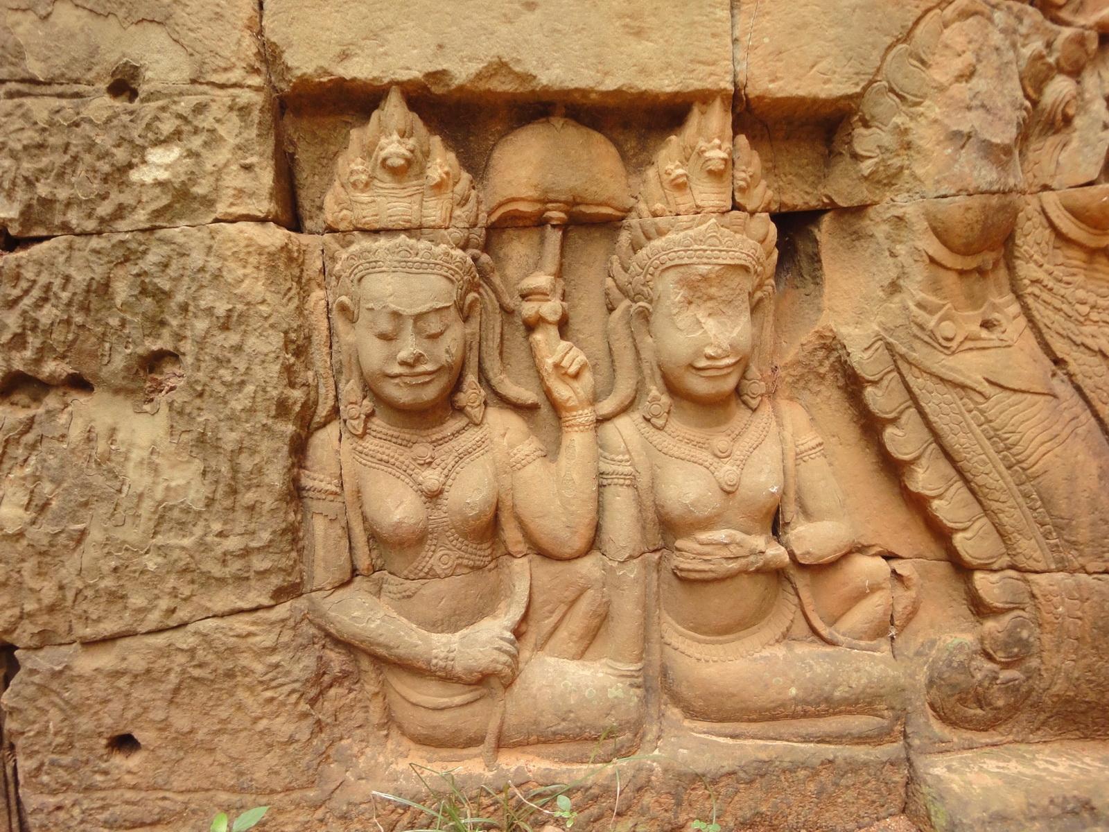 Leper King Terrace hidden wall underworld Nagas and deities 037