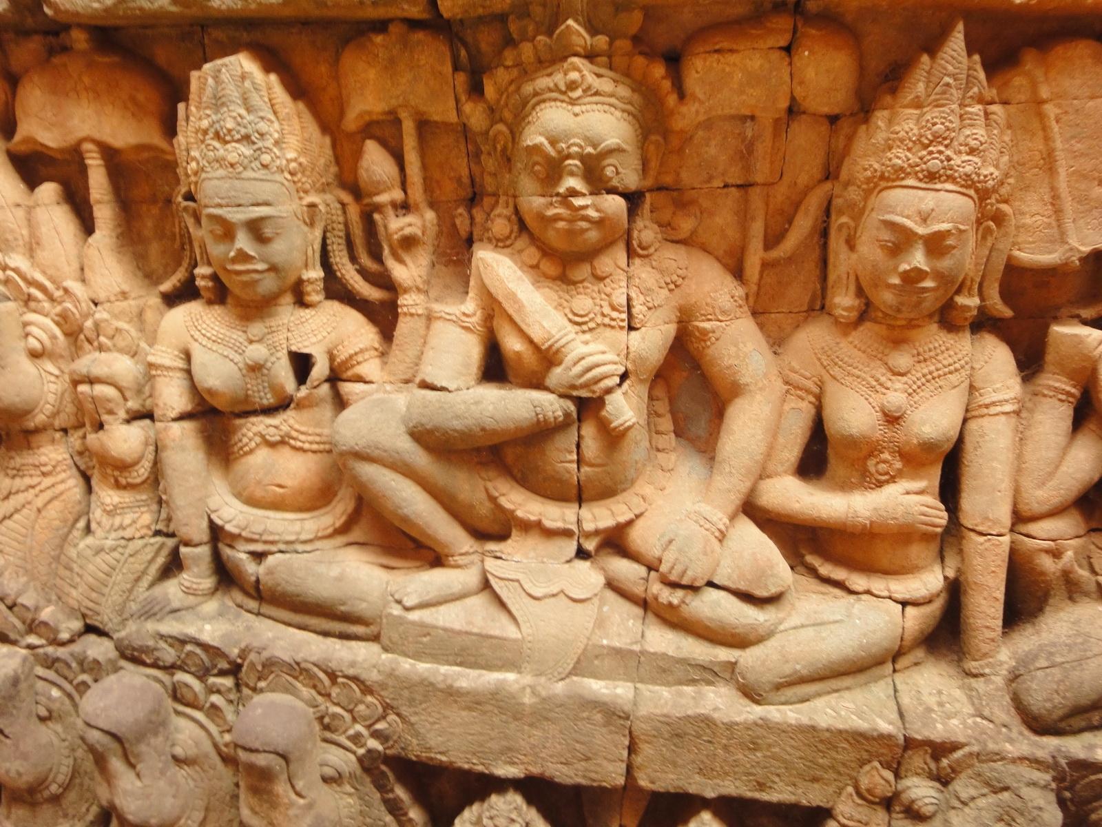 Leper King Terrace hidden wall underworld Nagas and deities 049