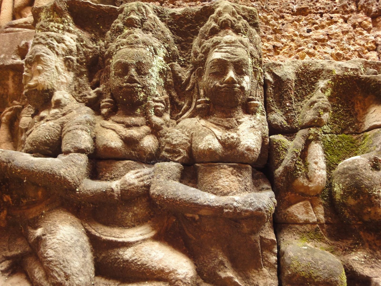 Leper King Terrace hidden wall underworld Nagas and deities 052