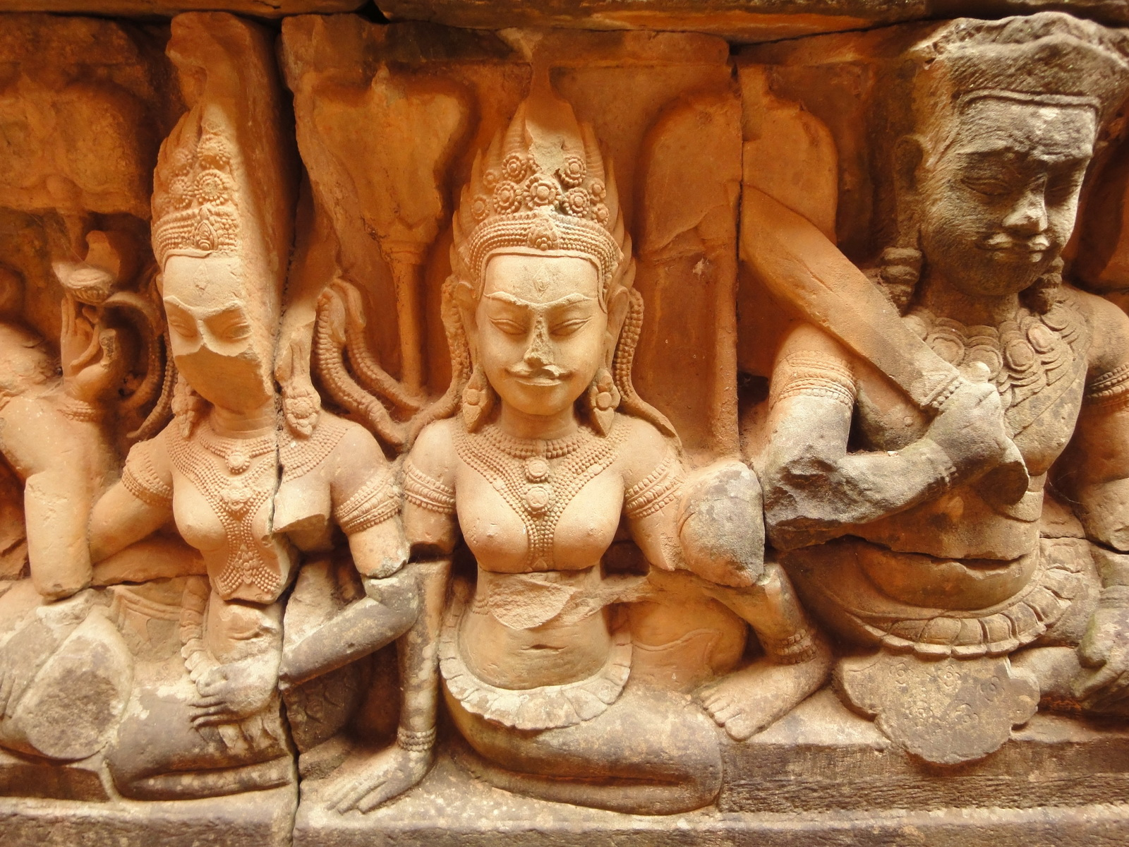Leper King Terrace hidden wall underworld Nagas and deities 054