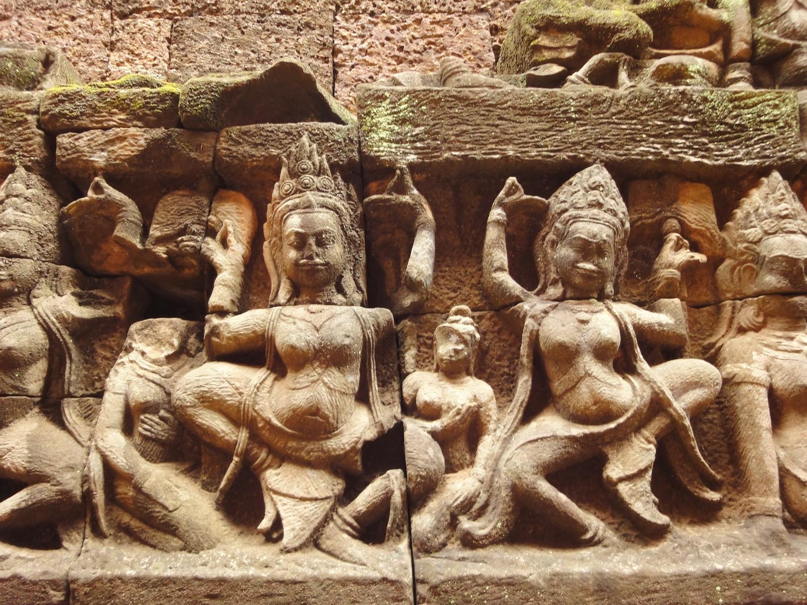 Leper King Terrace hidden wall underworld Nagas and deities 057