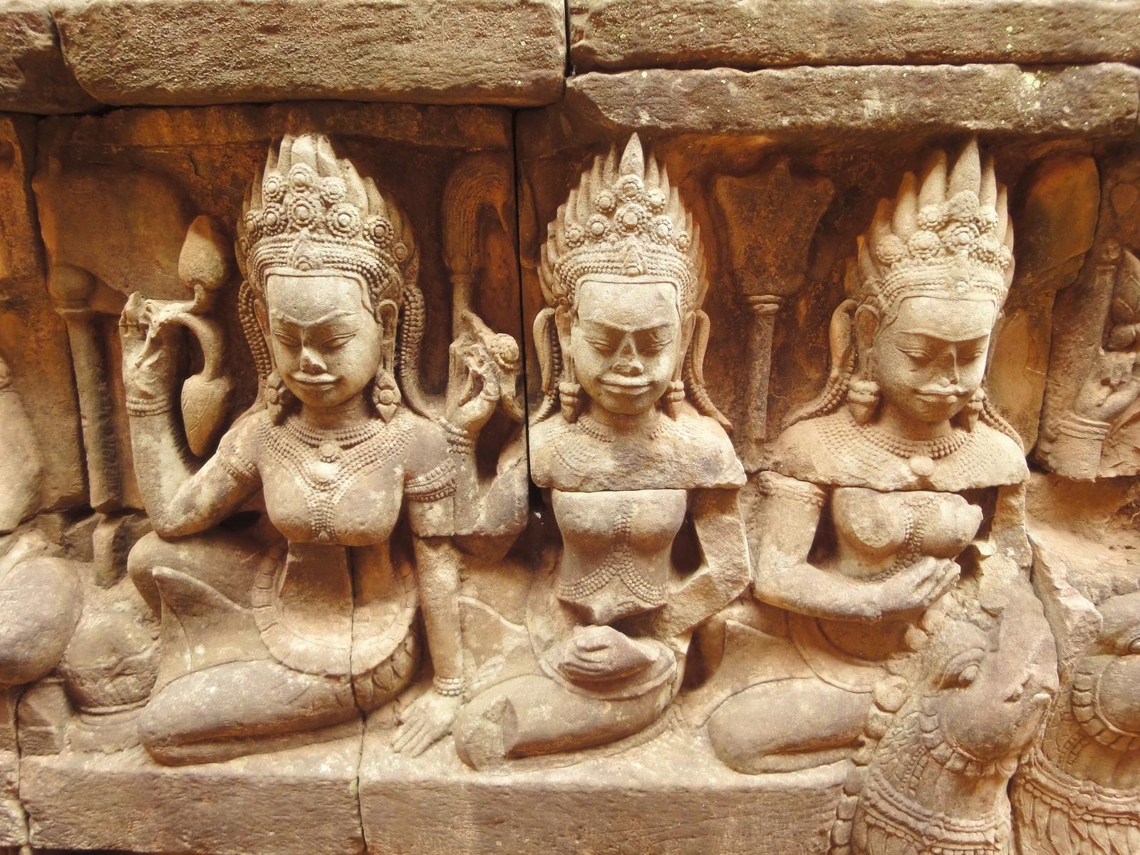 Leper King Terrace hidden wall underworld Nagas and deities 058
