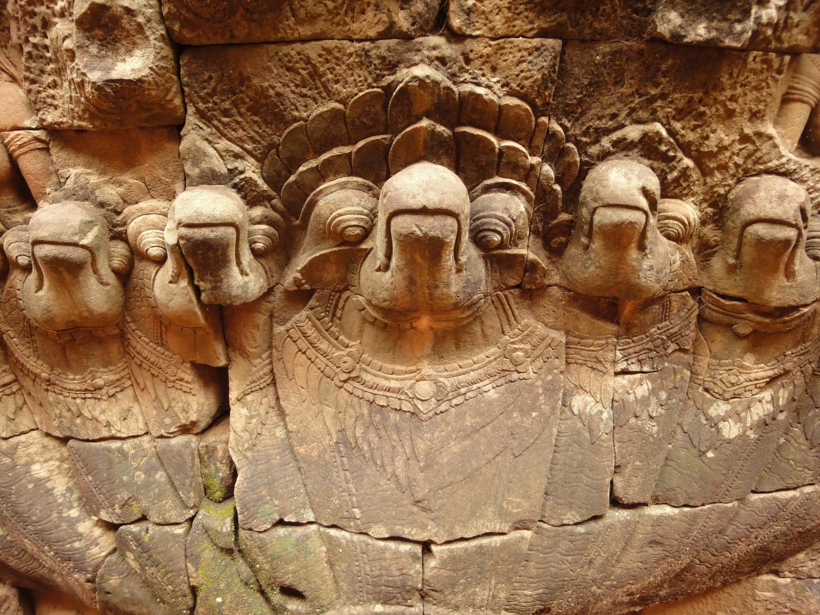 Leper King Terrace hidden wall underworld Nagas and deities 059