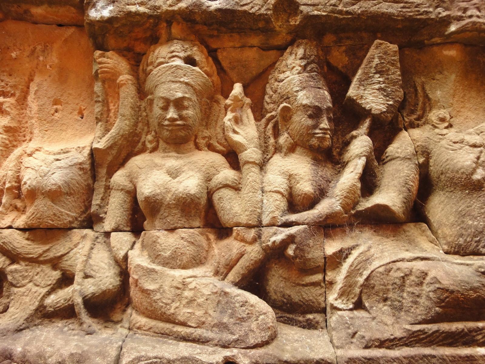 Leper King Terrace hidden wall underworld Nagas and deities 063