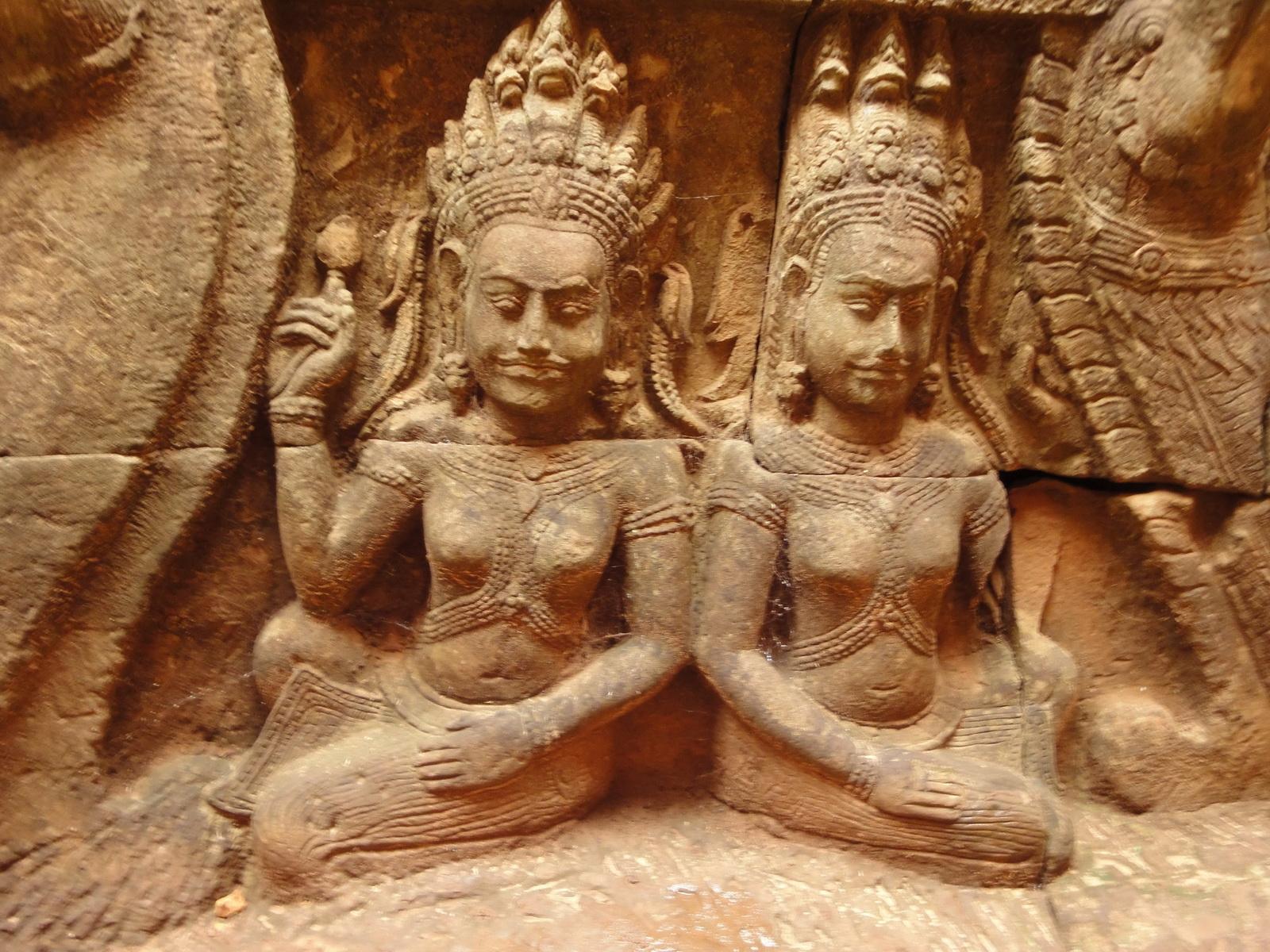 Leper King Terrace hidden wall underworld Nagas and deities 064