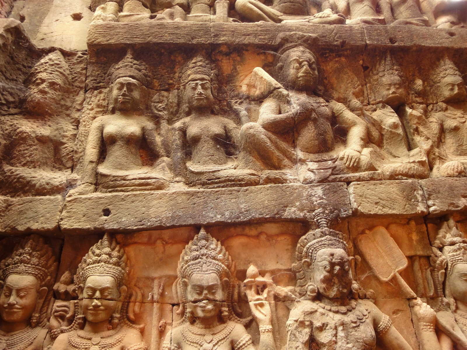 Leper King Terrace hidden wall underworld Nagas and deities 067