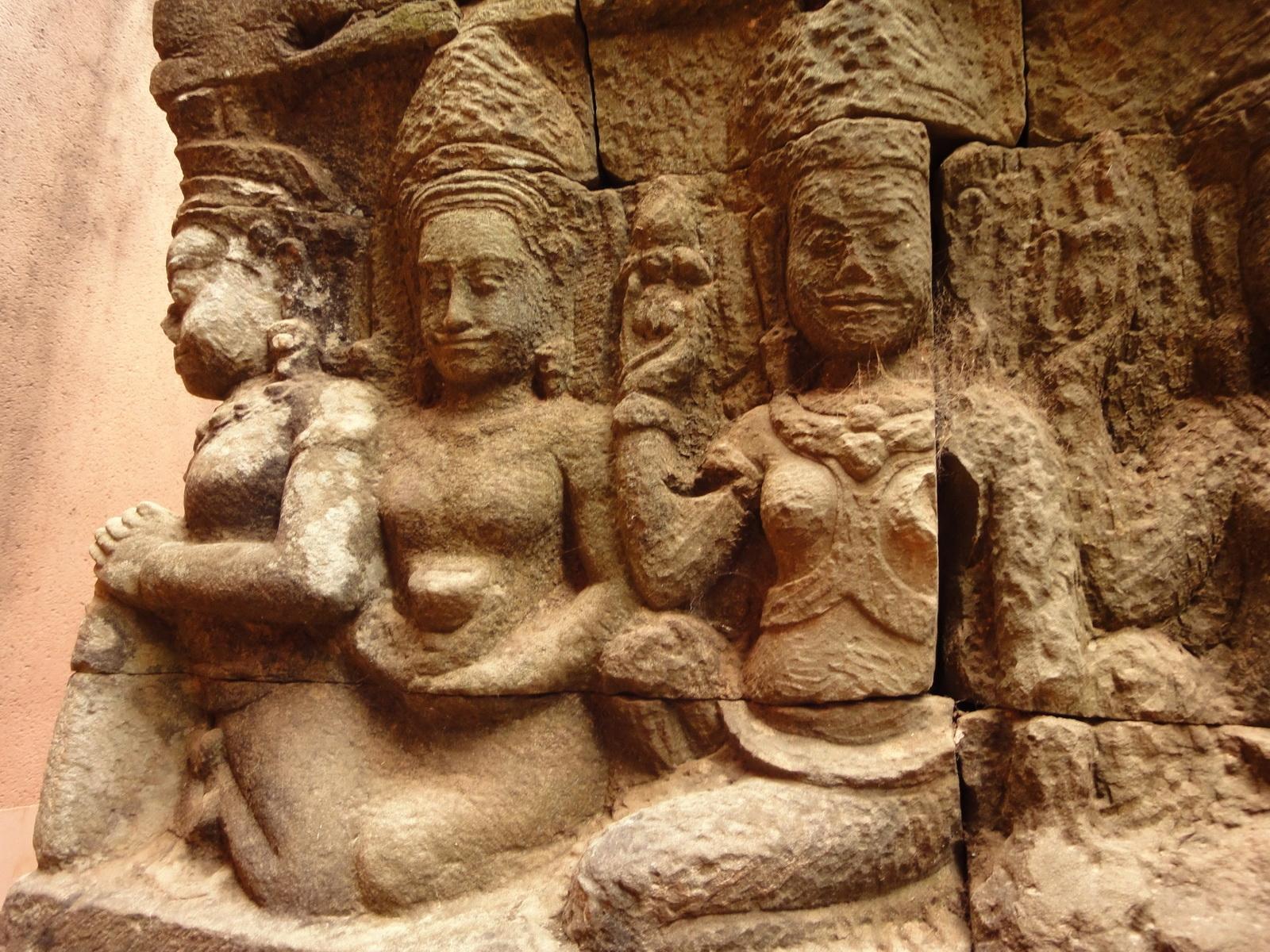 Leper King Terrace hidden wall underworld Nagas and deities 073