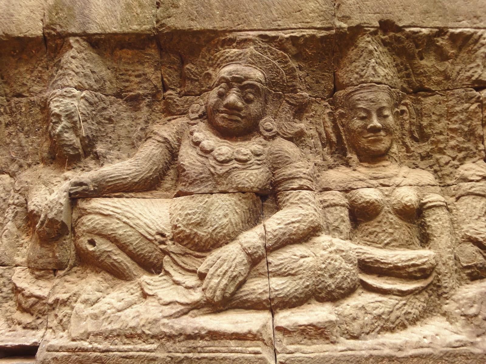 Leper King Terrace hidden wall underworld Nagas and deities 075