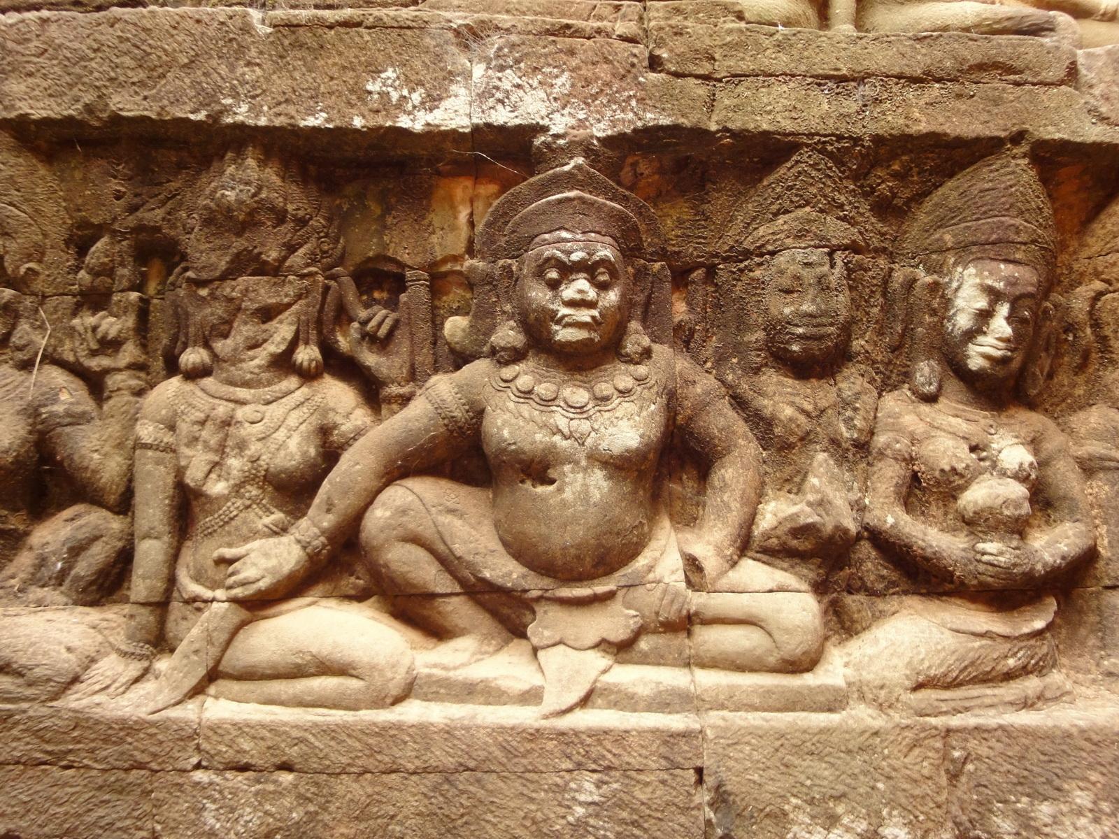 Leper King Terrace hidden wall underworld Nagas and deities 079