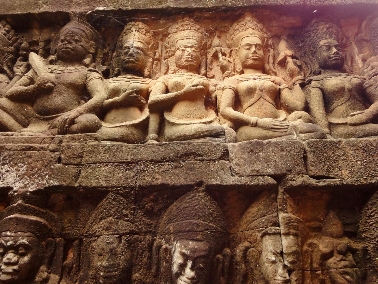 Leper King Terrace hidden wall underworld Nagas and deities 083