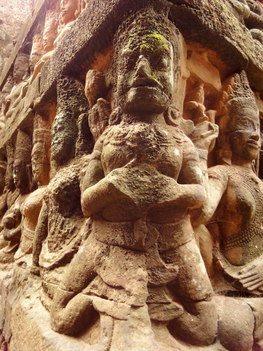 Leper King Terrace hidden wall underworld Nagas and deities 084