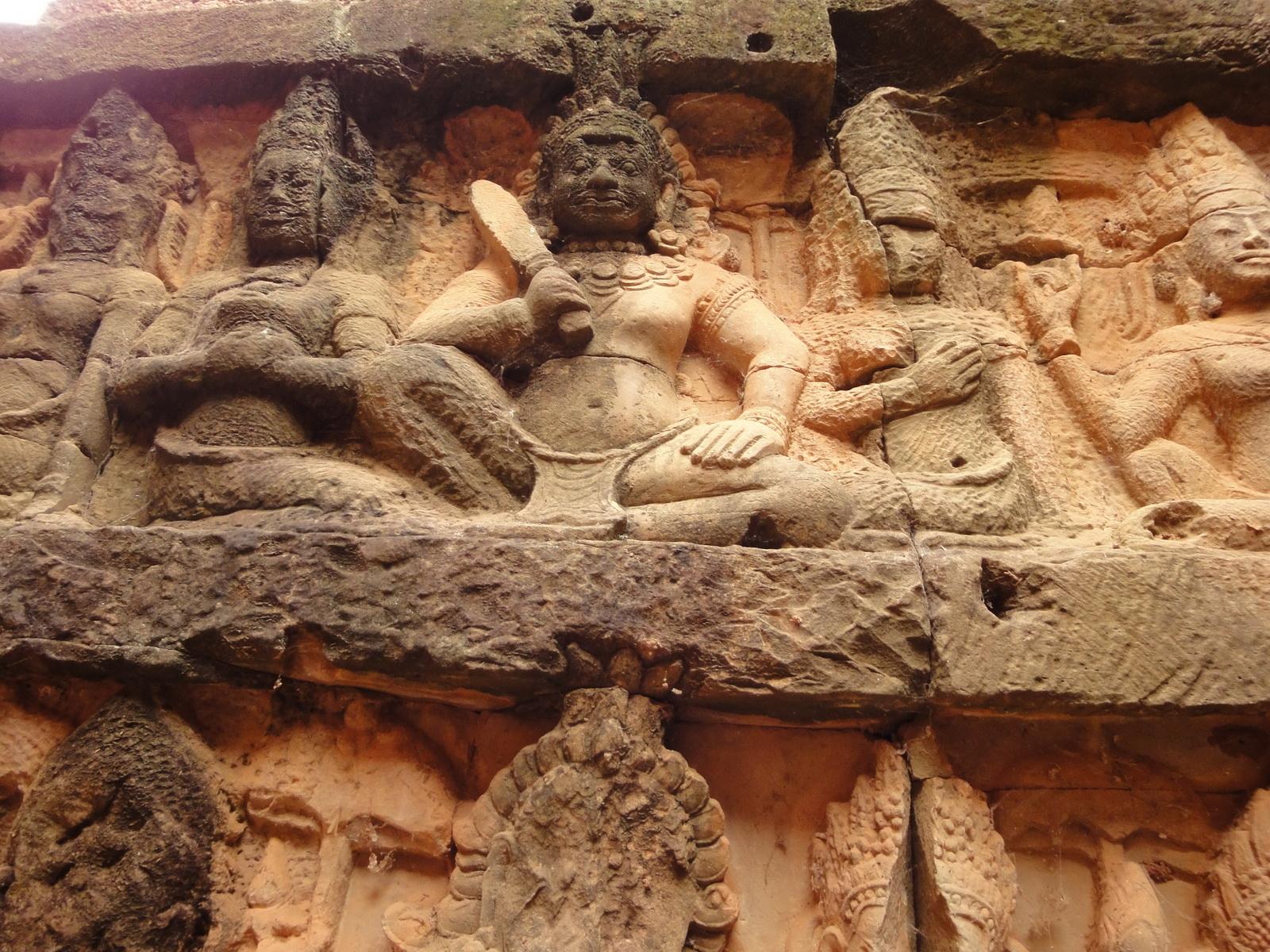 Leper King Terrace hidden wall underworld Nagas and deities 088