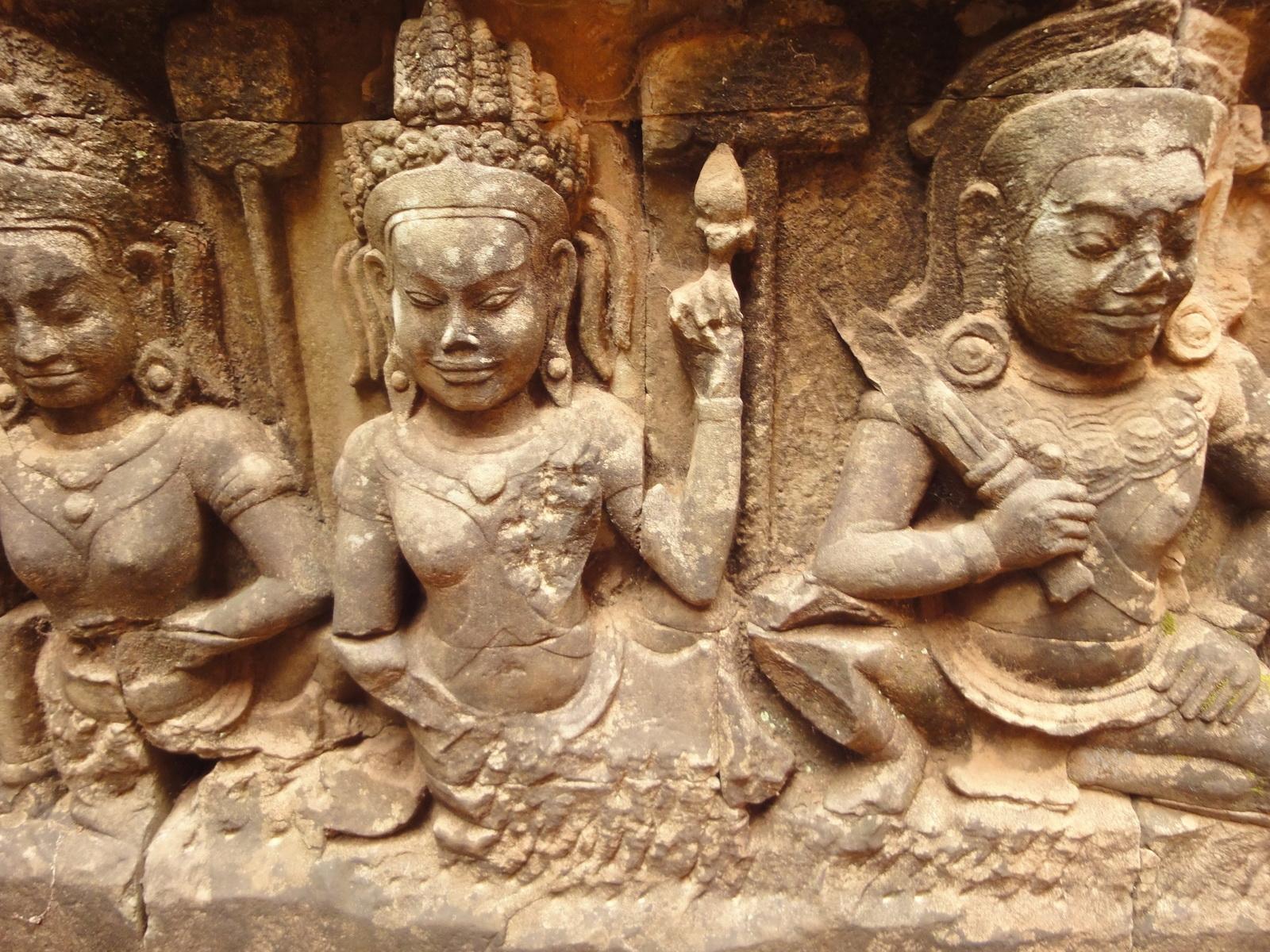 Leper King Terrace hidden wall underworld Nagas and deities 090