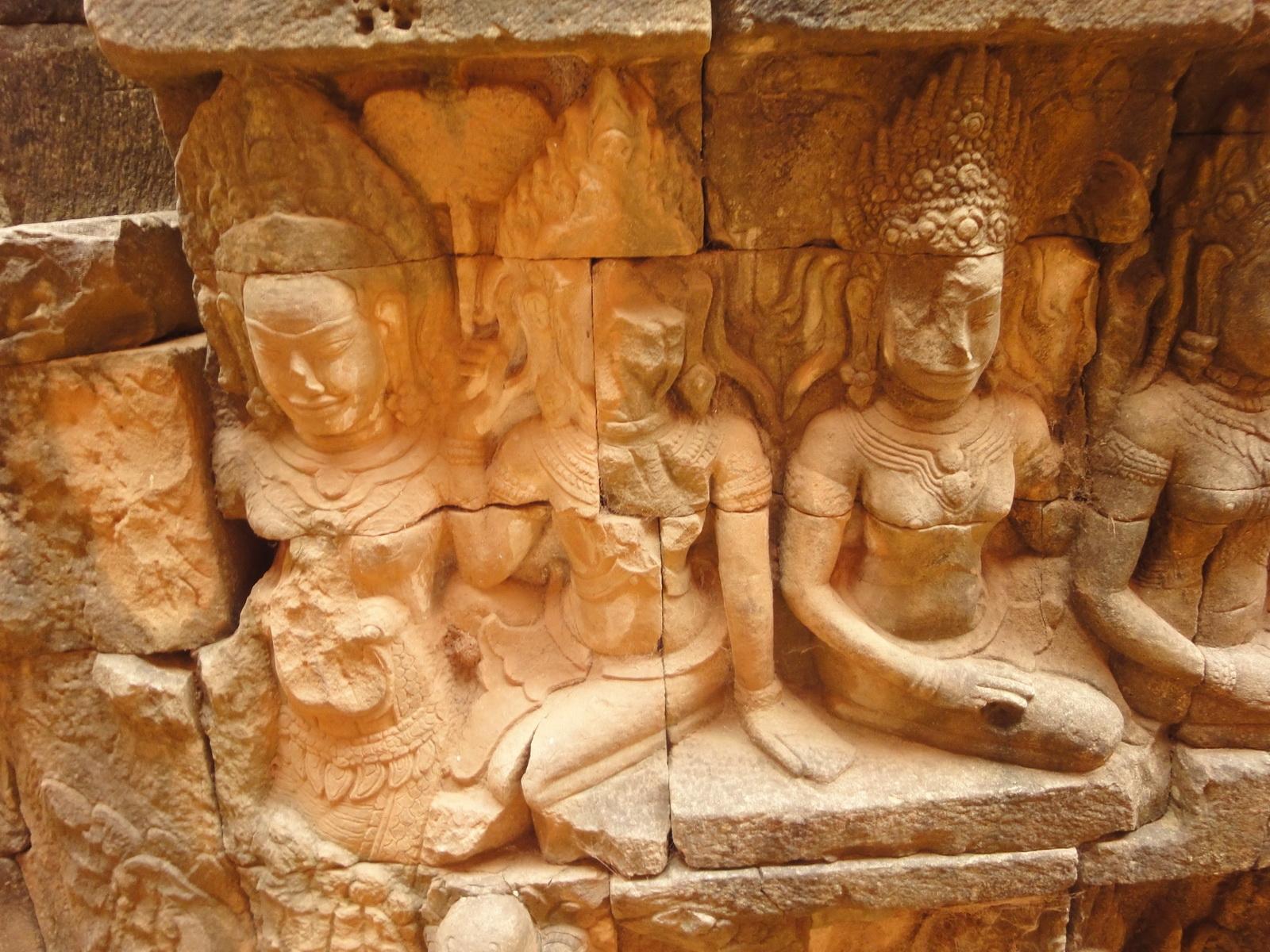 Leper King Terrace hidden wall underworld Nagas and deities 097