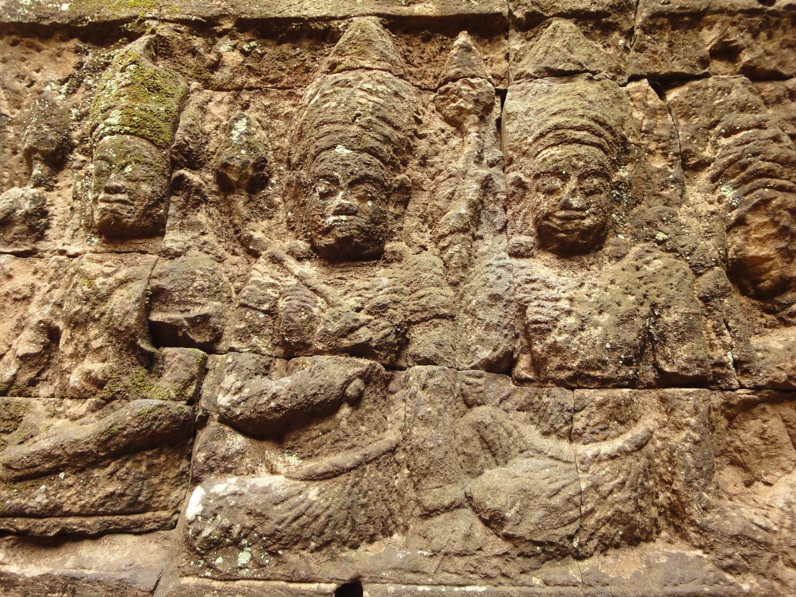 Leper King Terrace hidden wall underworld Nagas and deities 102