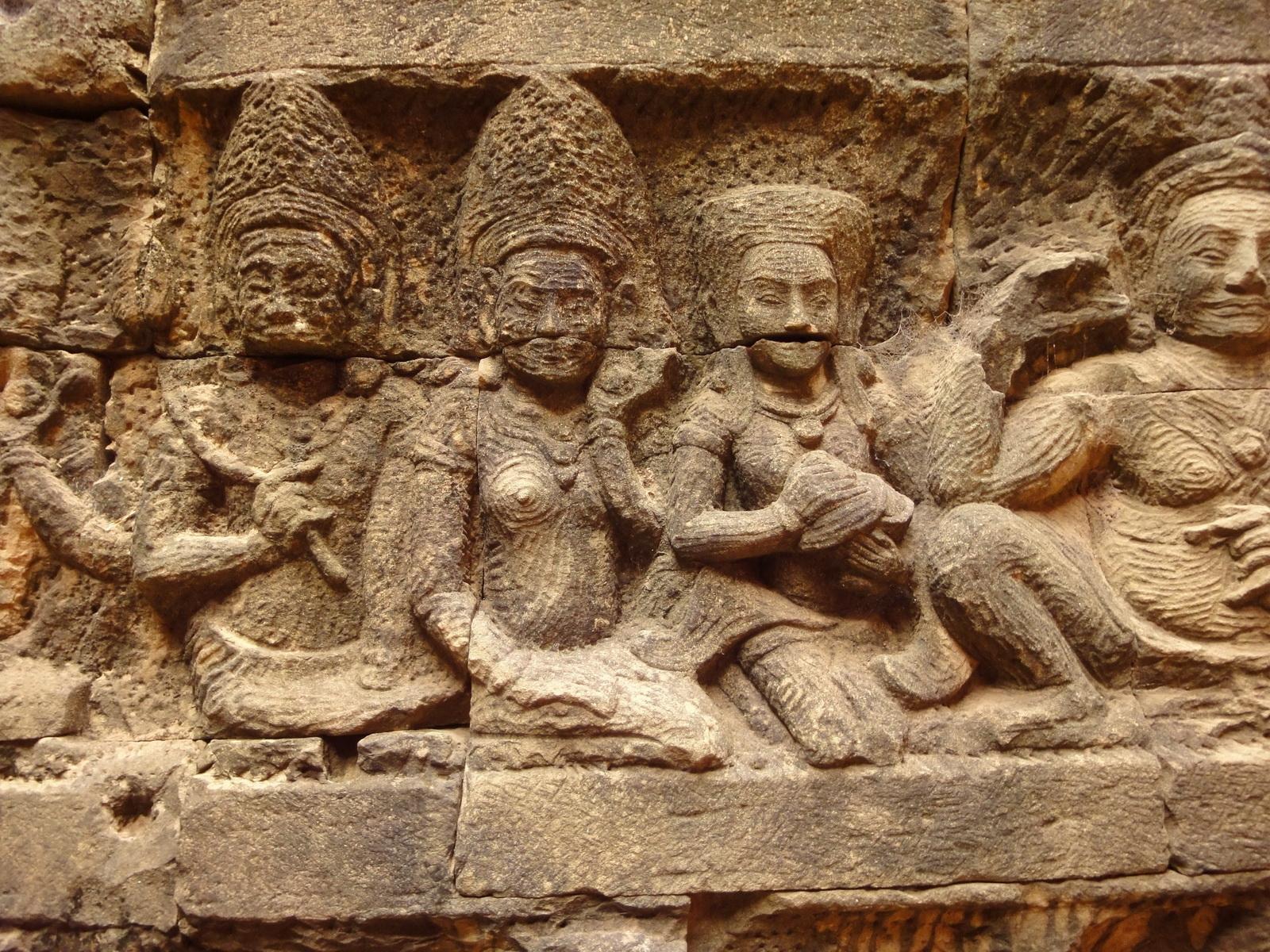 Leper King Terrace hidden wall underworld Nagas and deities 103