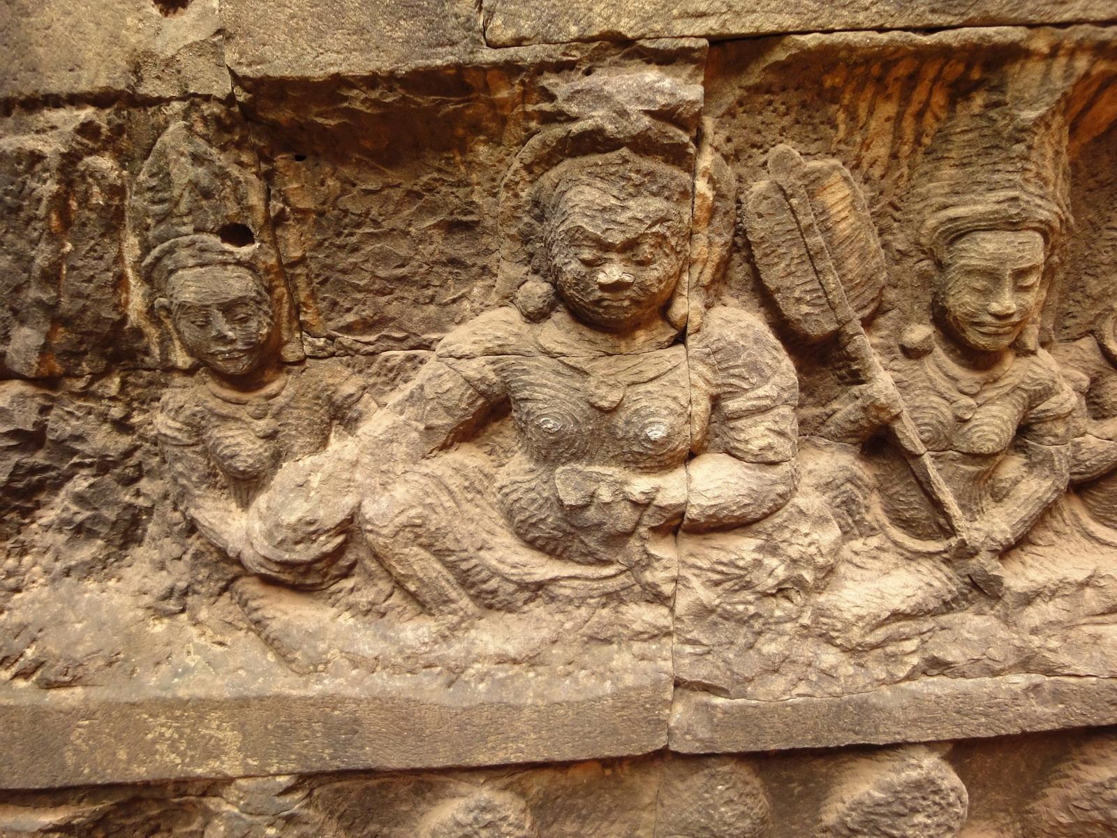Leper King Terrace hidden wall underworld Nagas and deities 104