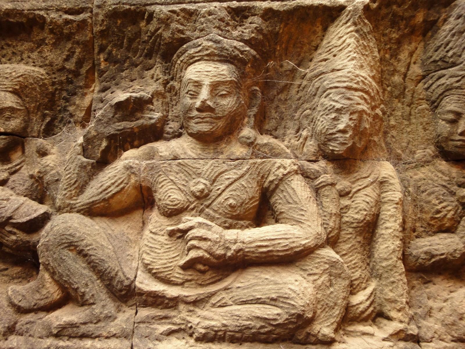 Leper King Terrace hidden wall underworld Nagas and deities 106