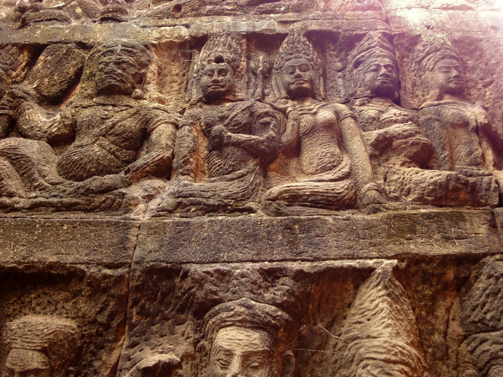 Leper King Terrace hidden wall underworld Nagas and deities 108