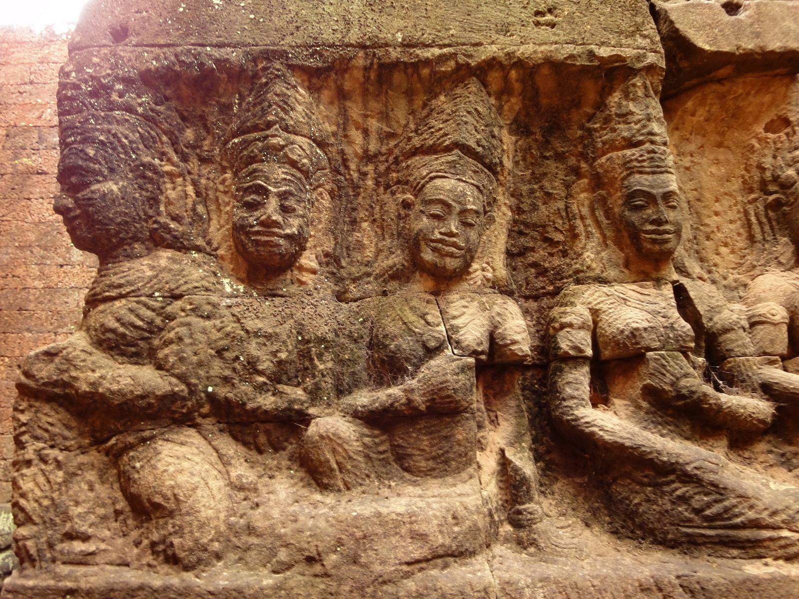 Leper King Terrace hidden wall underworld Nagas and deities 109