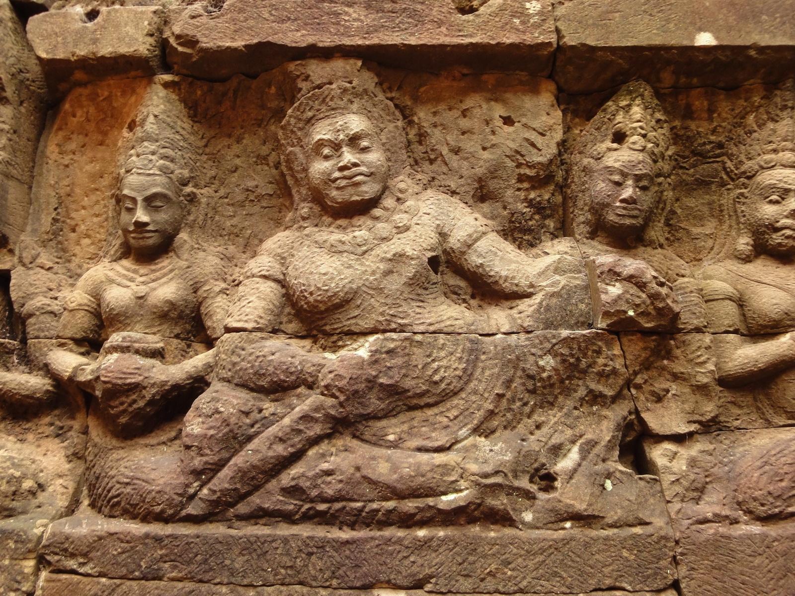Leper King Terrace hidden wall underworld Nagas and deities 111