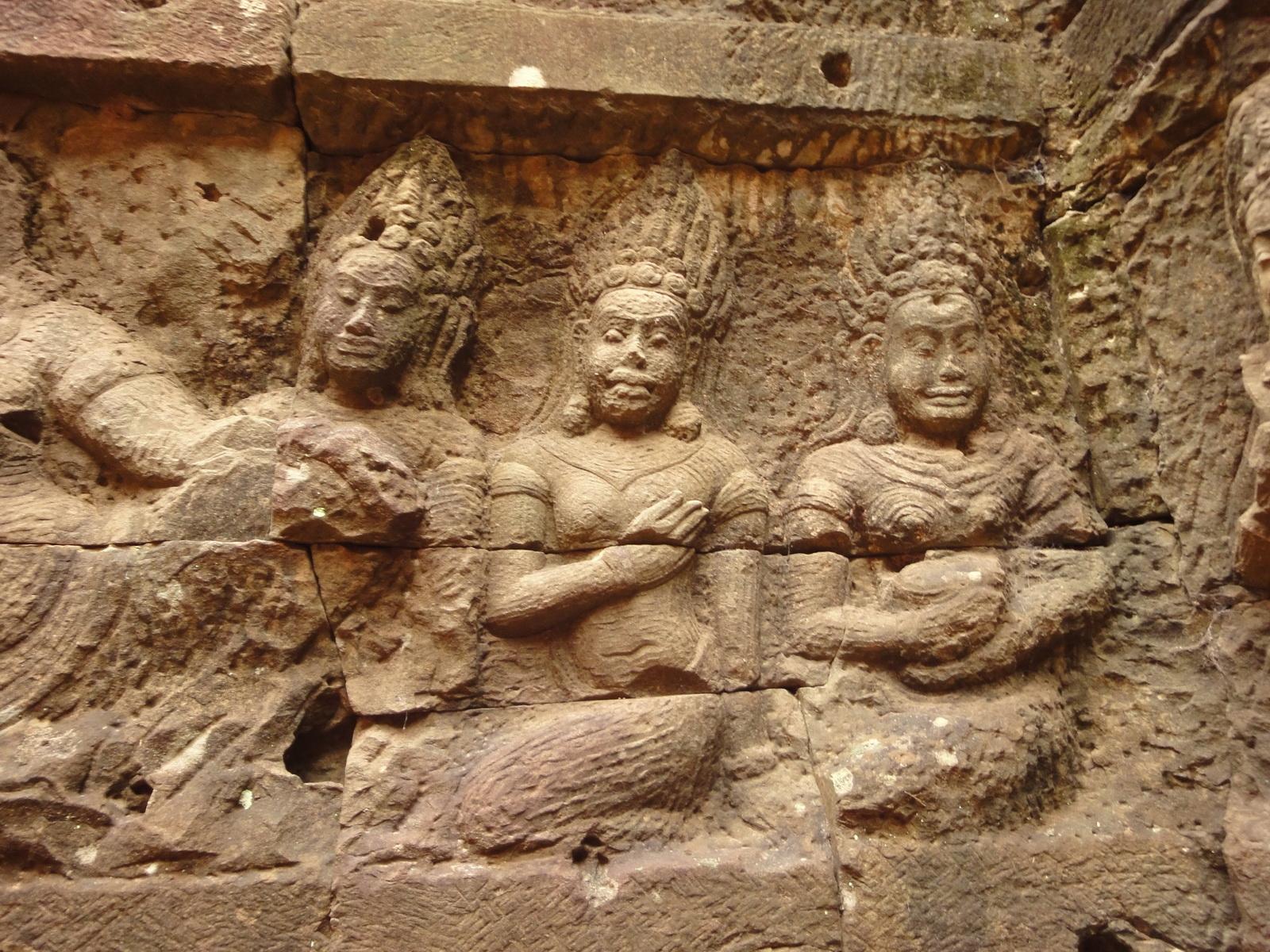 Leper King Terrace hidden wall underworld Nagas and deities 112