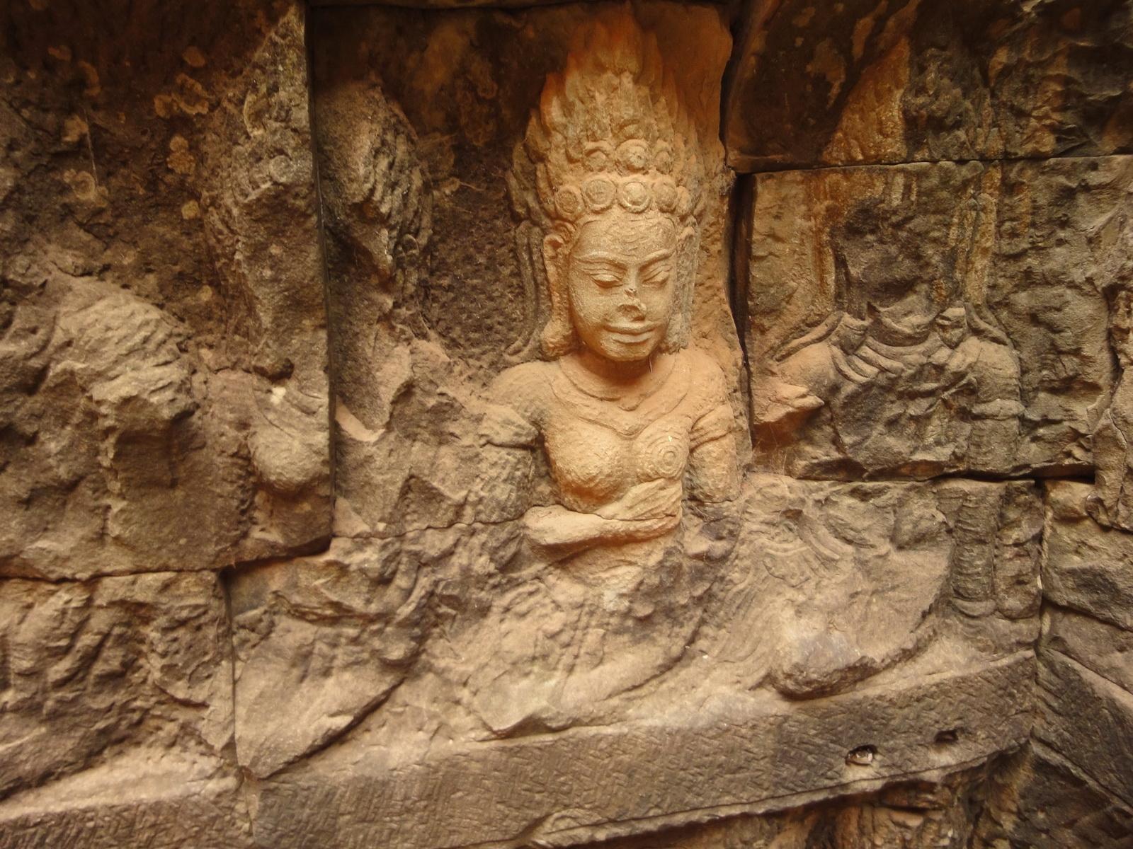 Leper King Terrace hidden wall underworld Nagas and deities 113