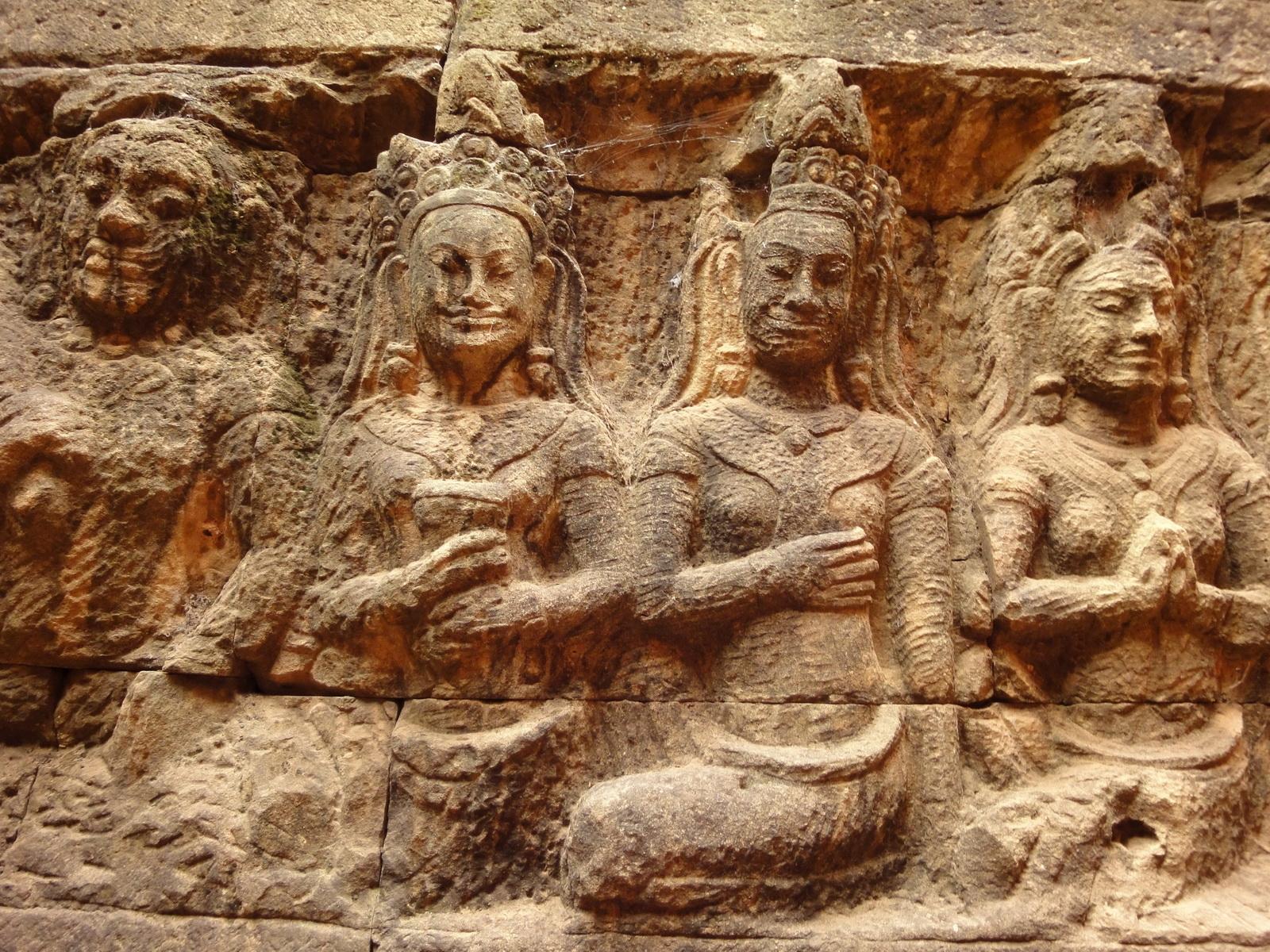 Leper King Terrace hidden wall underworld Nagas and deities 116