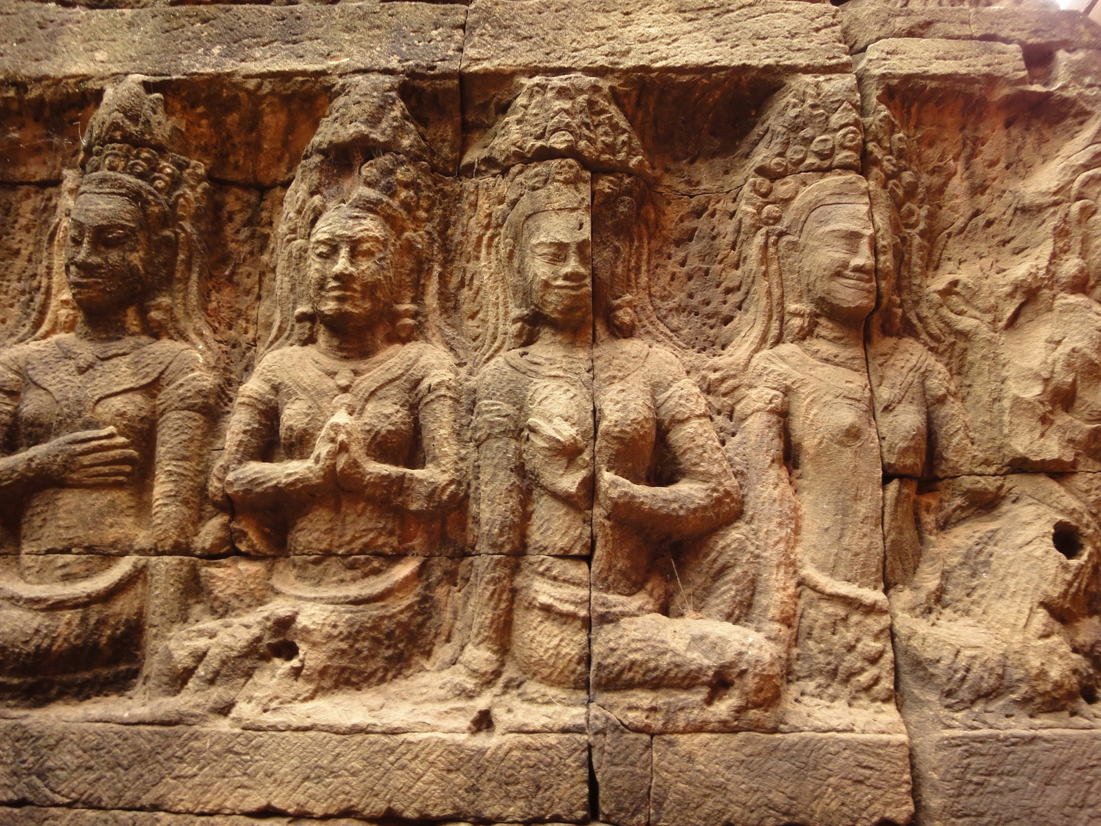 Leper King Terrace hidden wall underworld Nagas and deities 117