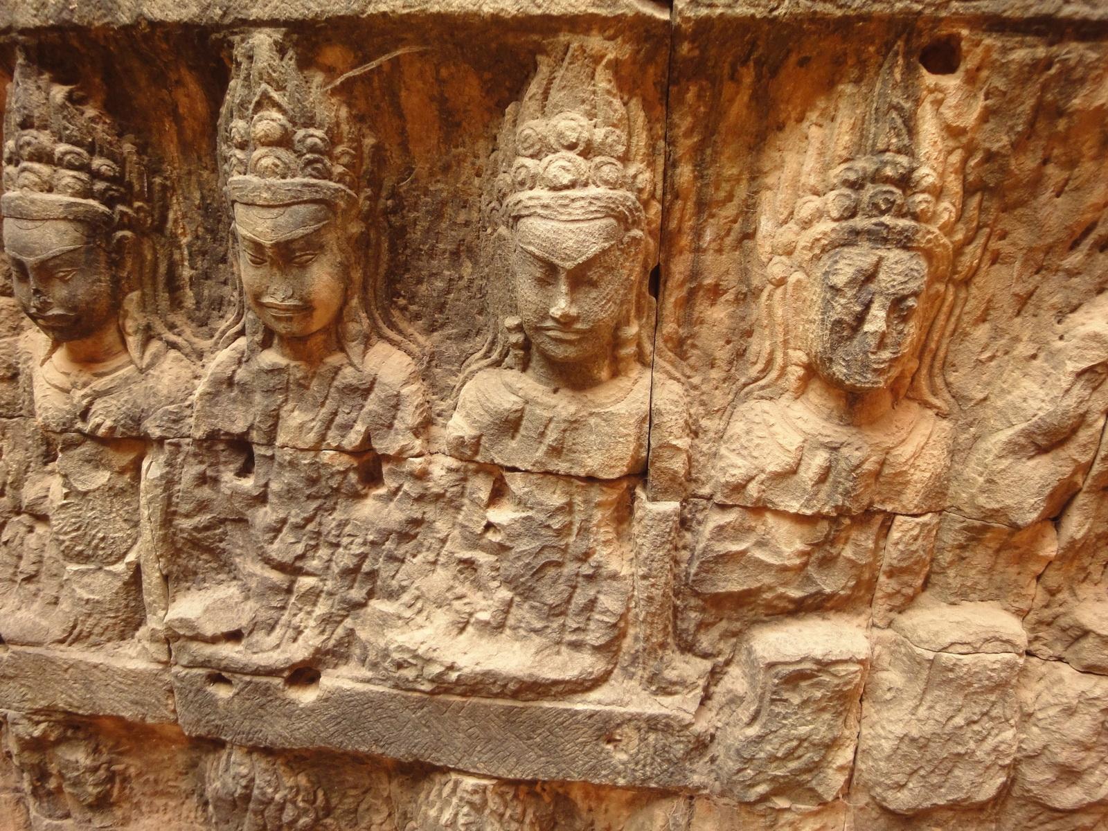 Leper King Terrace hidden wall underworld Nagas and deities 119