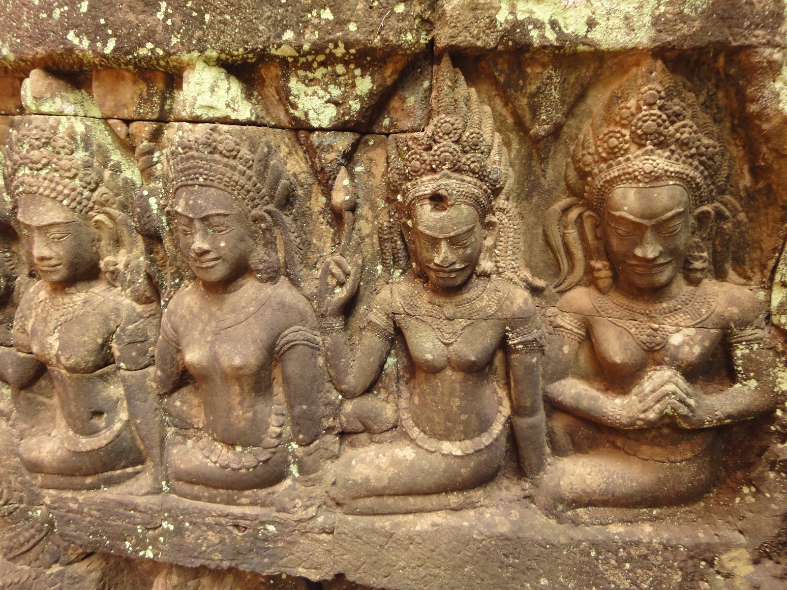 Leper King Terrace hidden wall underworld Nagas and deities 121