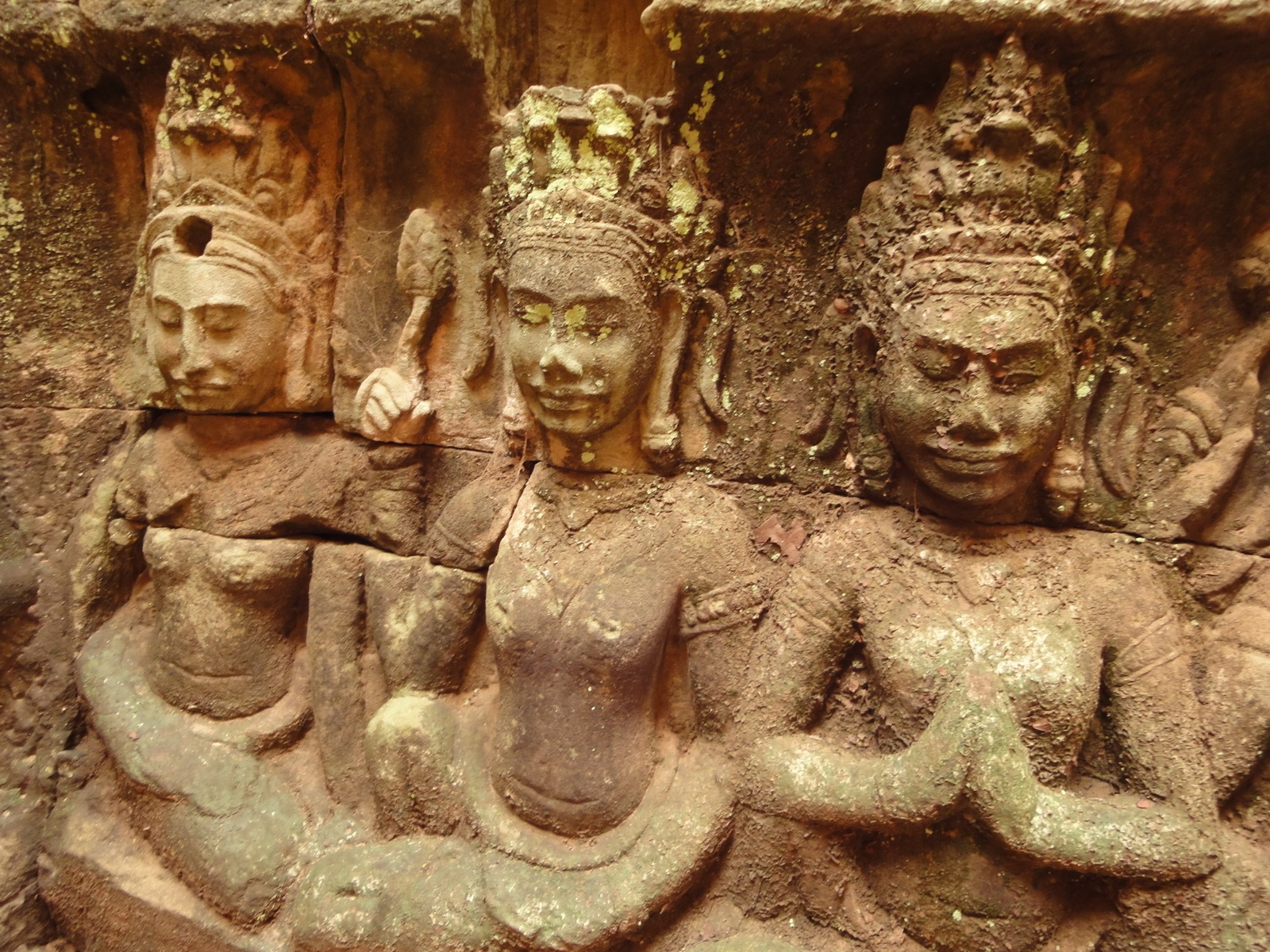 Leper King Terrace hidden wall underworld Nagas and deities 123