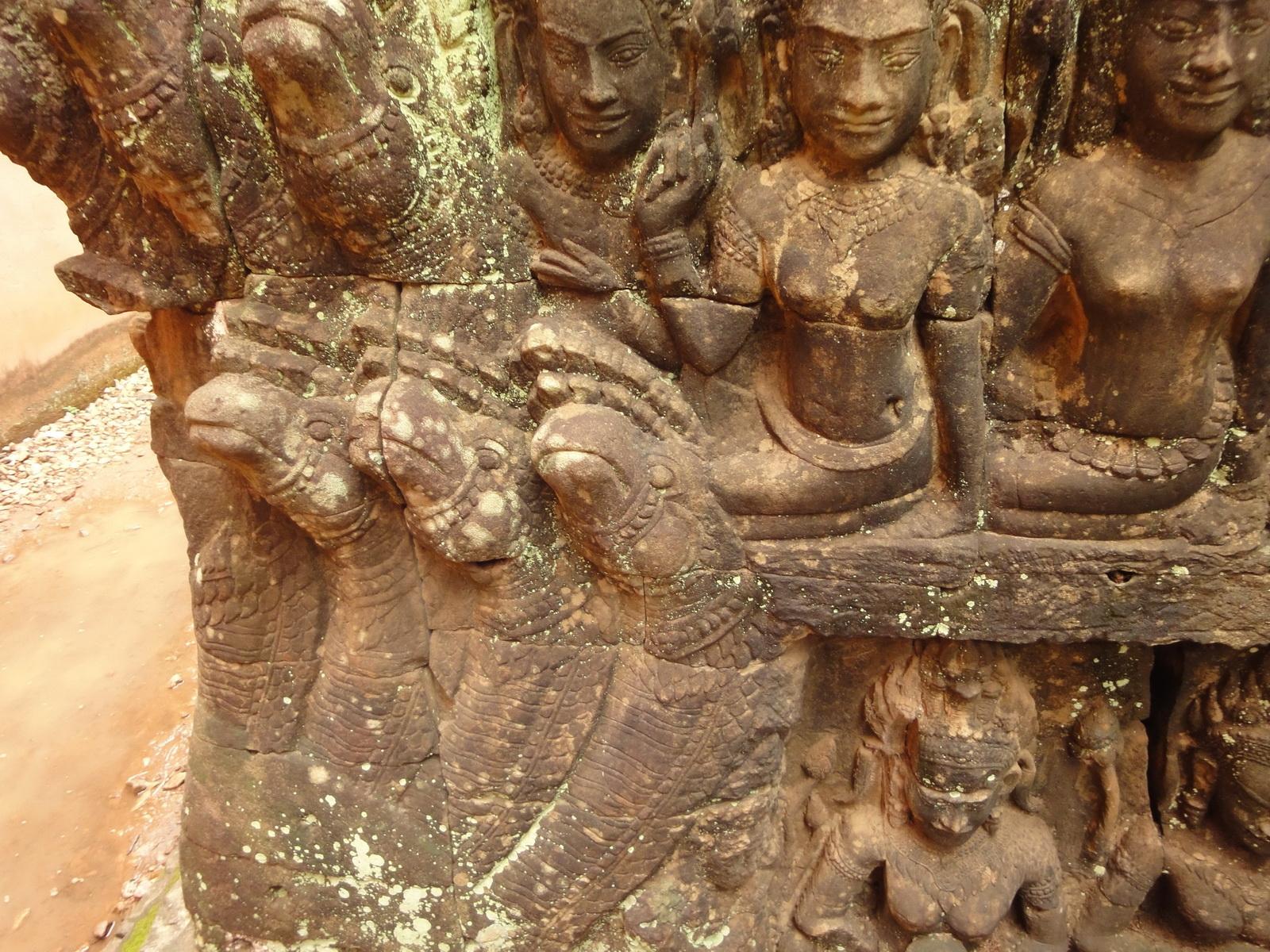 Leper King Terrace hidden wall underworld Nagas and deities 124