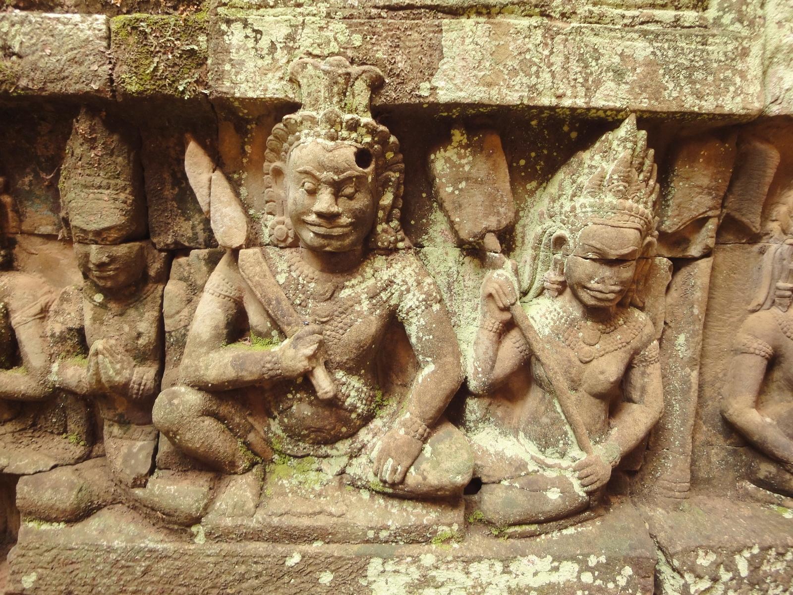 Leper King Terrace hidden wall underworld Nagas and deities 125