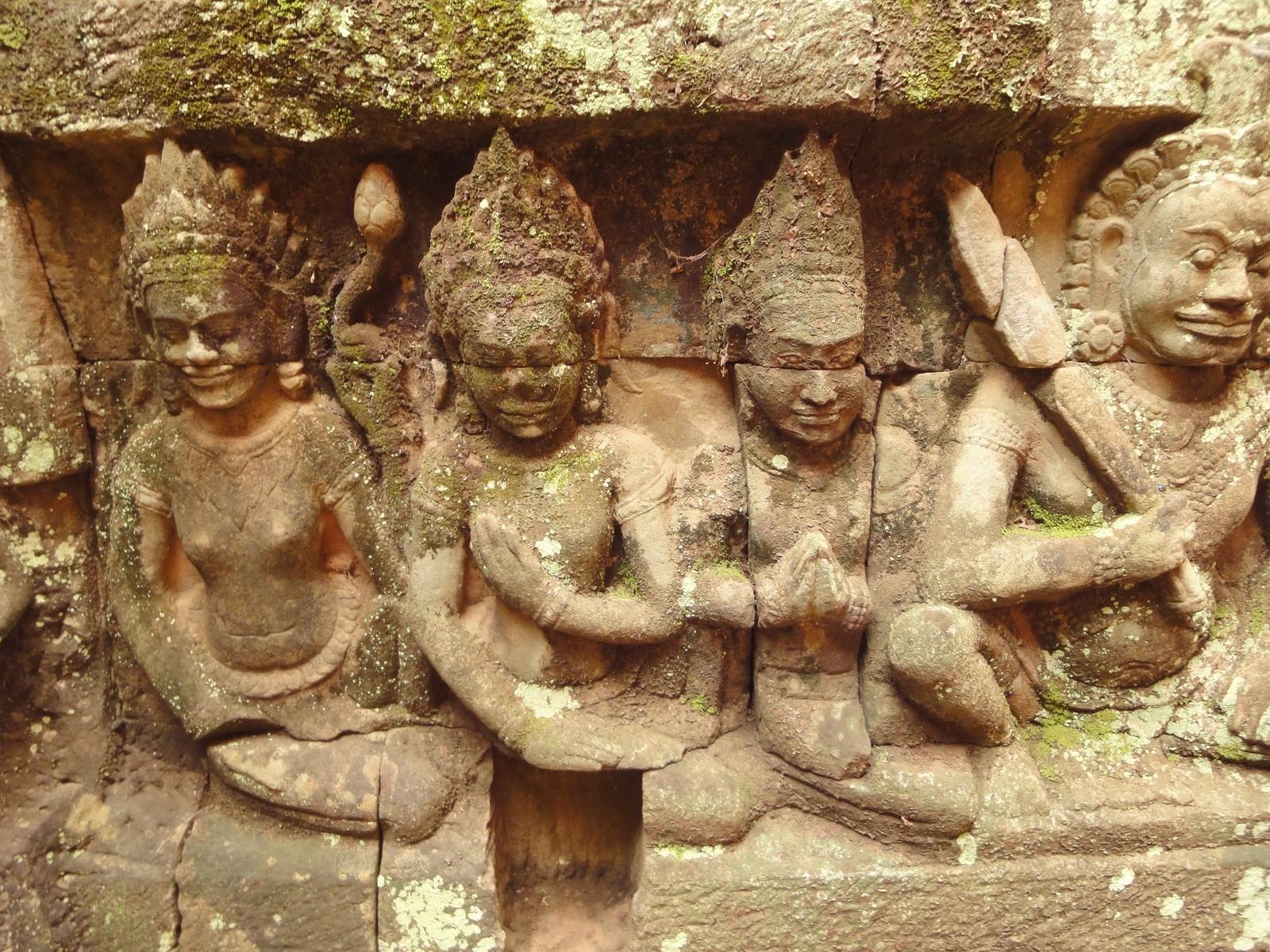 Leper King Terrace hidden wall underworld Nagas and deities 126
