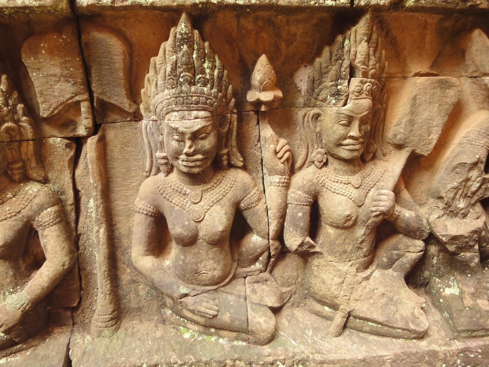 Leper King Terrace hidden wall underworld Nagas and deities 127