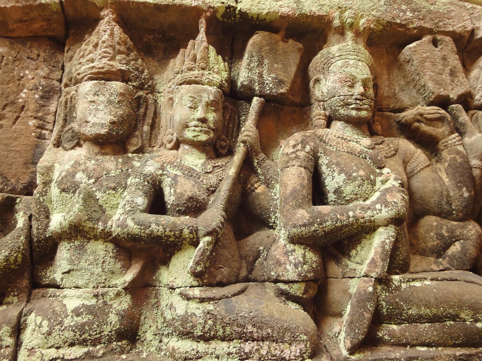 Leper King Terrace hidden wall underworld Nagas and deities 129