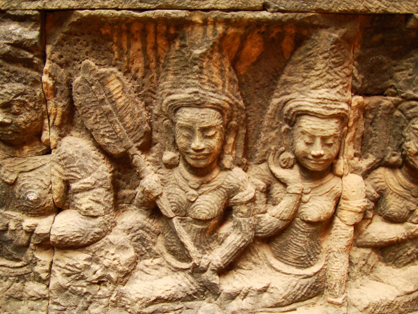 Leper King Terrace hidden wall underworld Nagas and deities 134