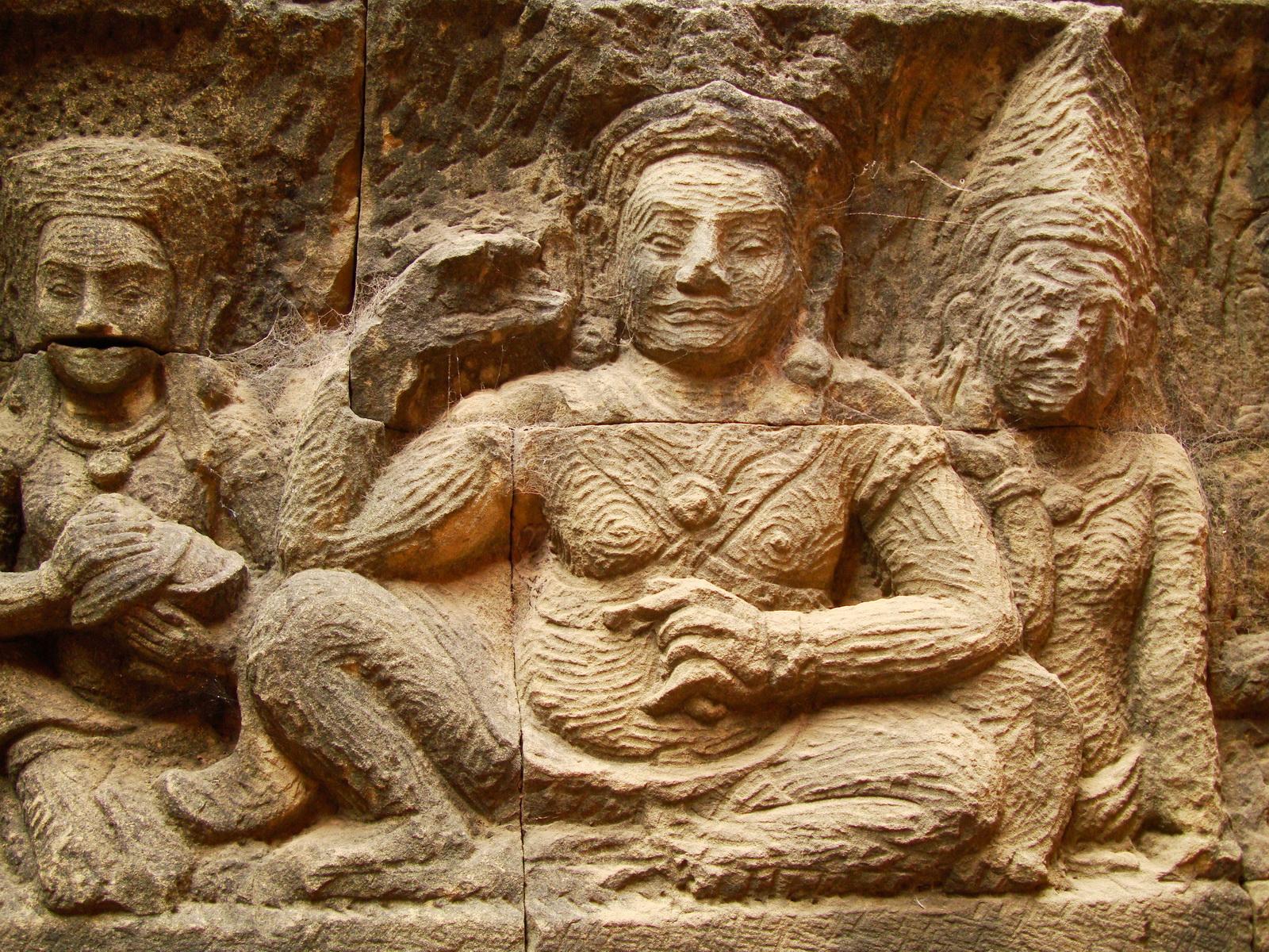 Leper King Terrace hidden wall underworld Nagas and deities 135