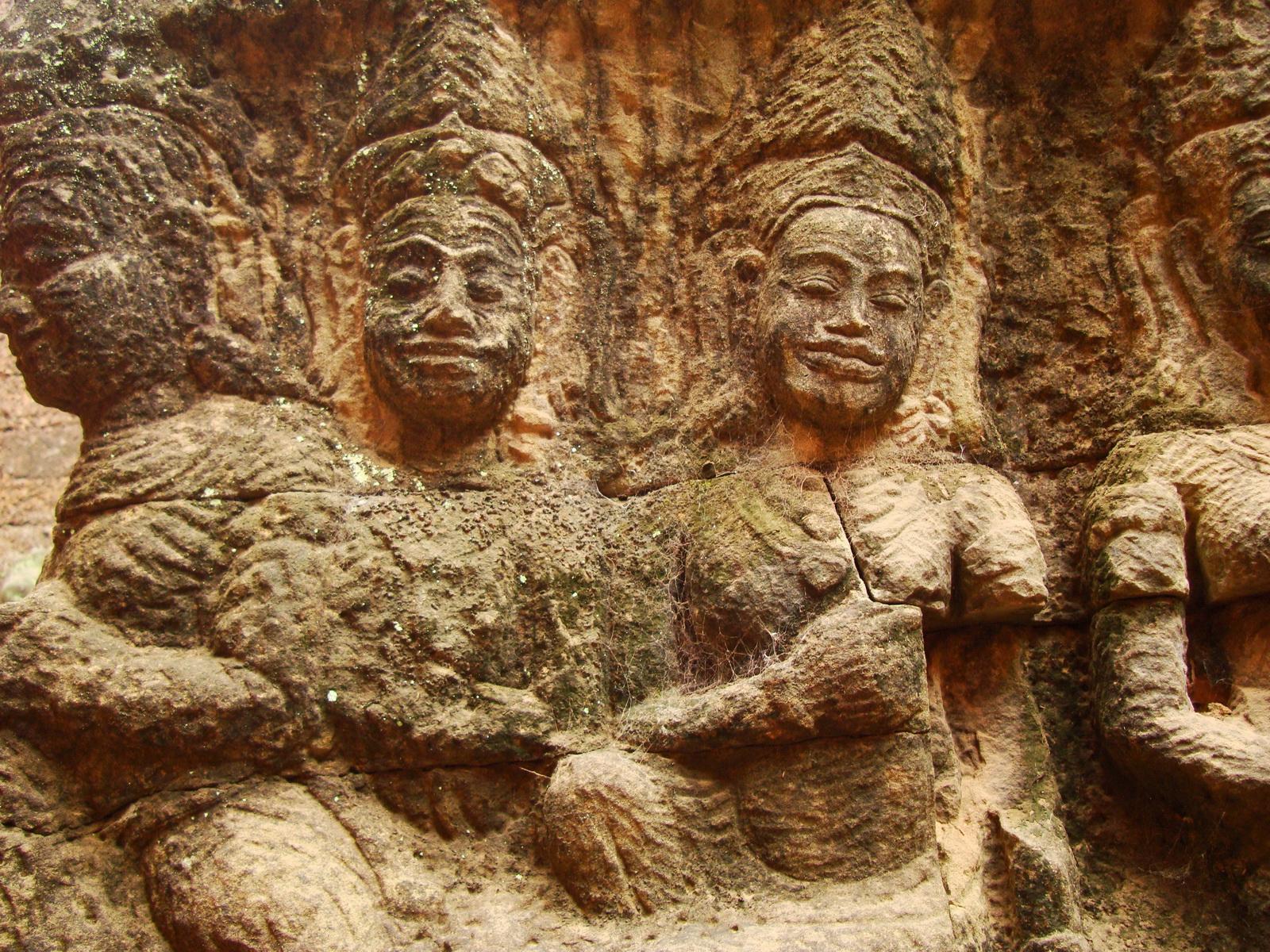 Leper King Terrace hidden wall underworld Nagas and deities 136