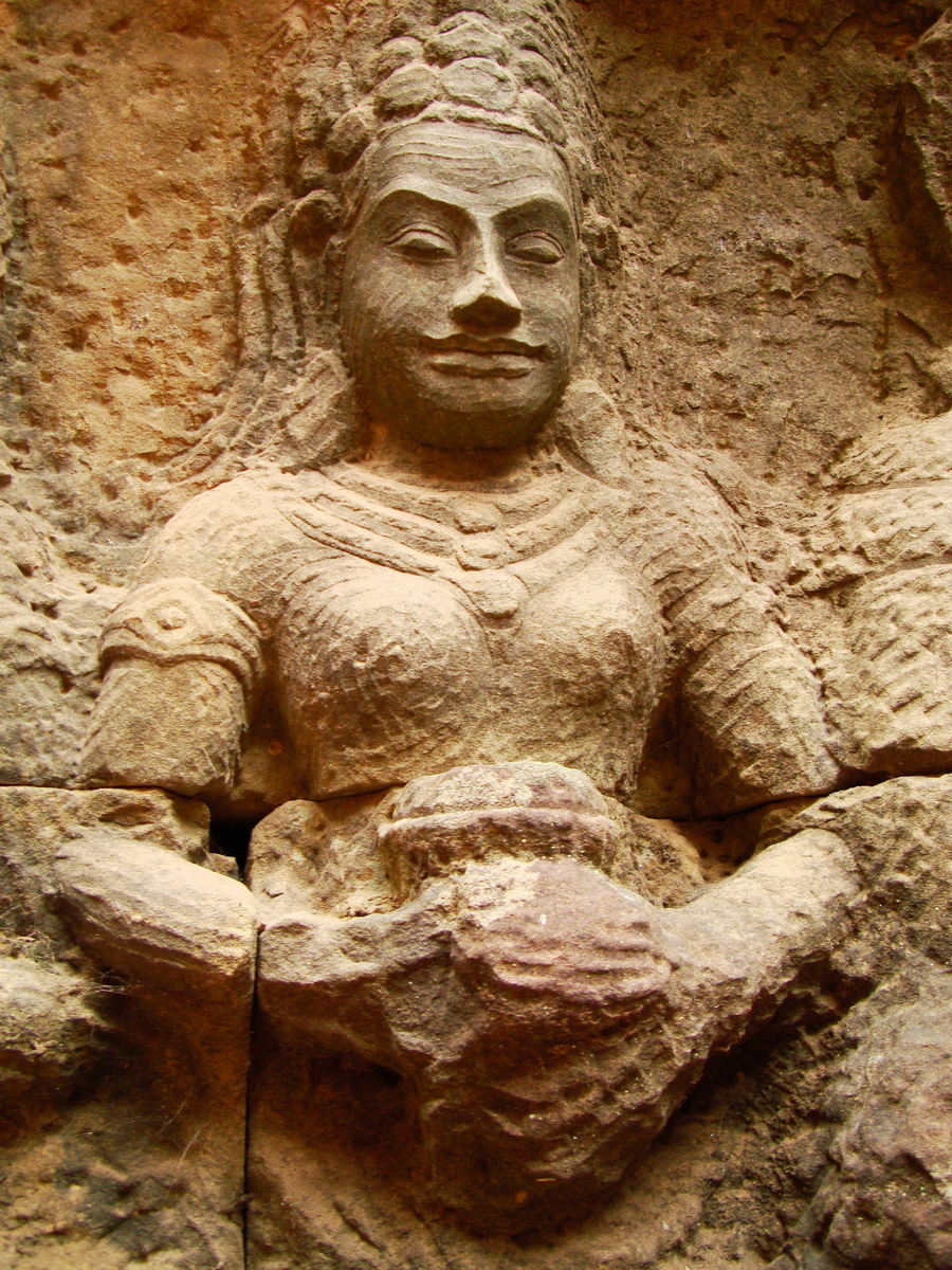 Leper King Terrace hidden wall underworld Nagas and deities 137