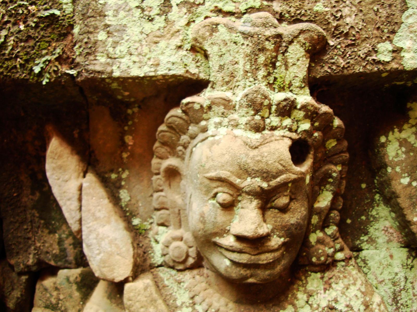 Leper King Terrace hidden wall underworld Nagas and deities 141